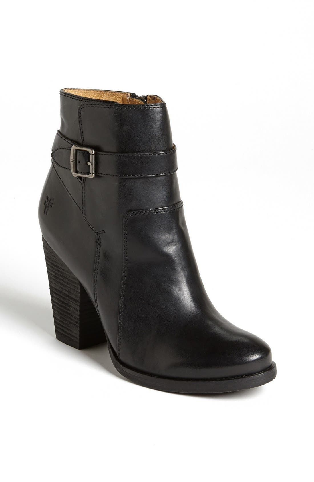 'Patty' Leather Riding Bootie,                             Main thumbnail 1, color,                             001