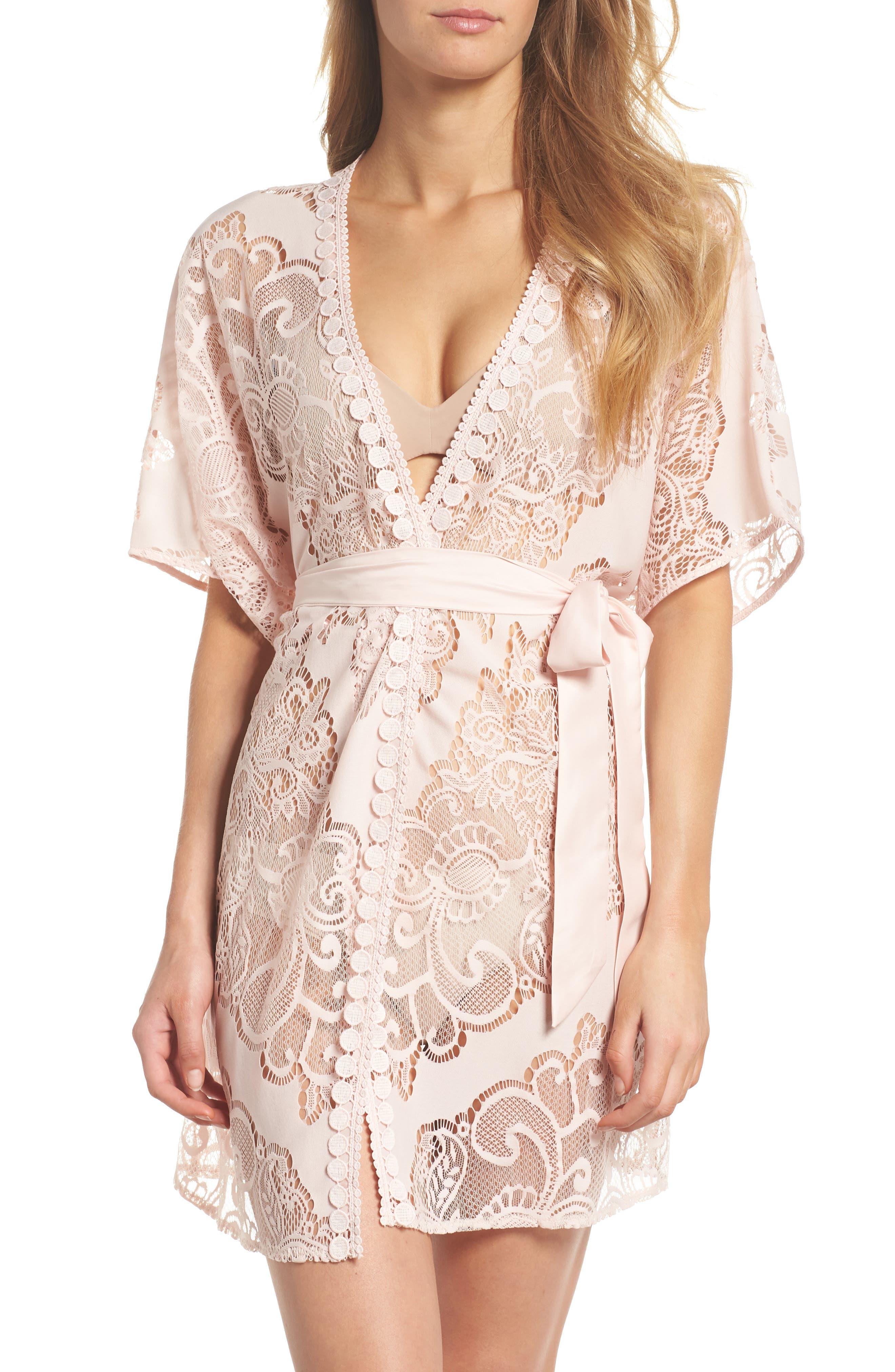 Millie Lace Robe,                         Main,                         color, 651
