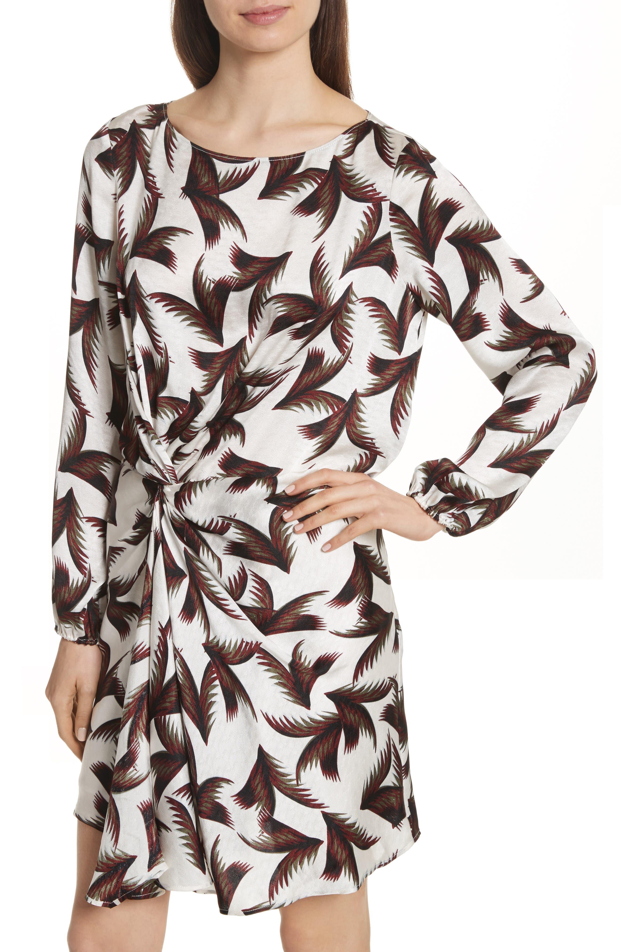 Freja Knotted Silk Dress,                             Alternate thumbnail 4, color,                             110