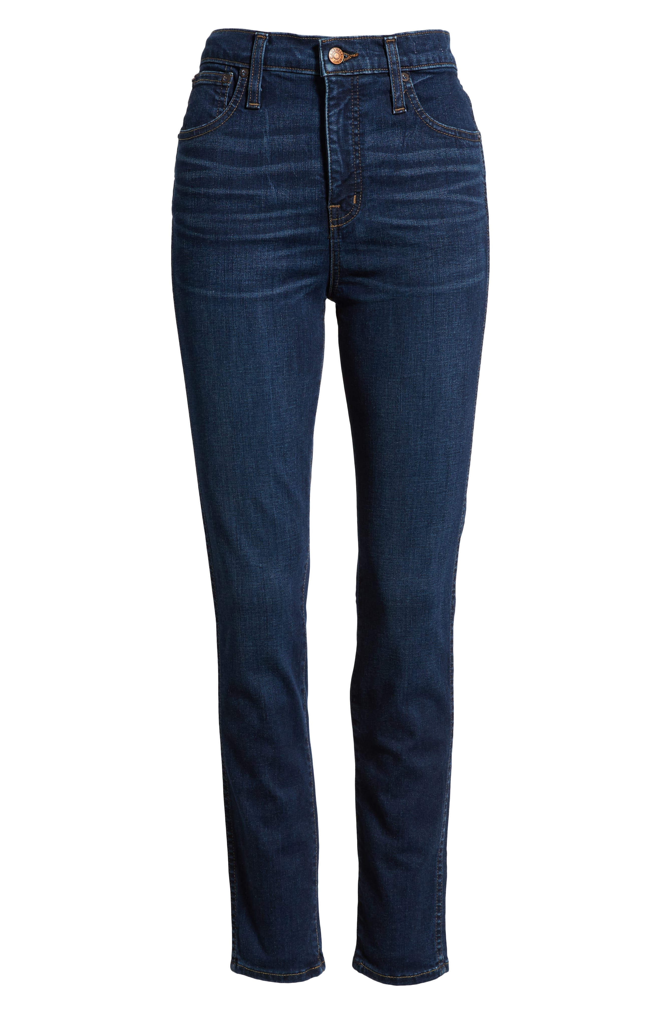 10-Inch High-Rise Skinny Jeans,                             Alternate thumbnail 4, color,                             HAYES WASH
