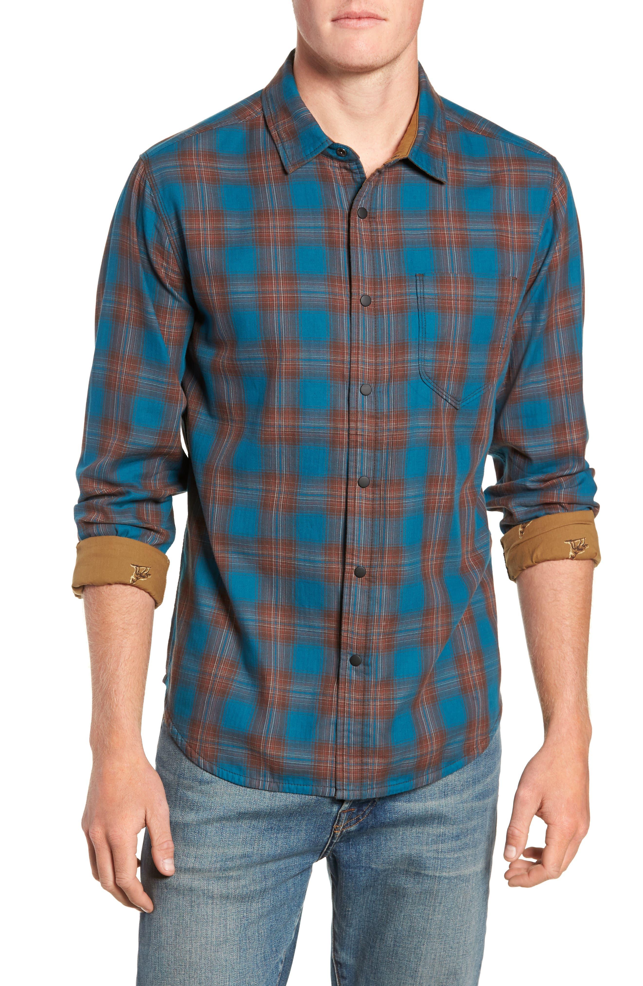 Howler Regular Fit Reversible Sport Shirt,                             Main thumbnail 1, color,                             LEGION BLUE HEATHER