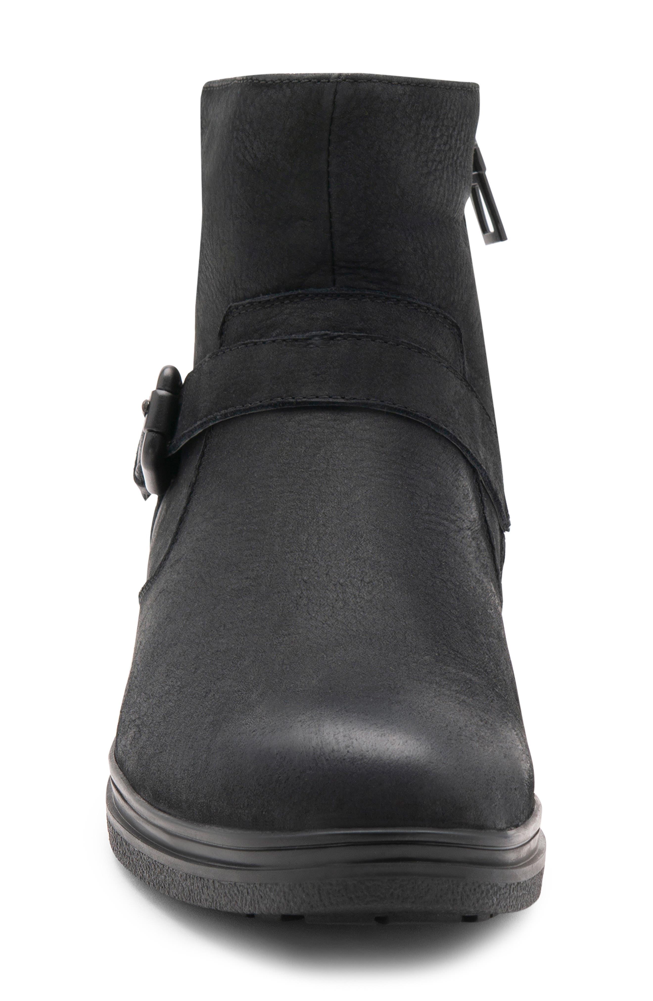 Sylvester Waterproof Buckle Boot,                             Alternate thumbnail 4, color,                             BLACK NUBUCK