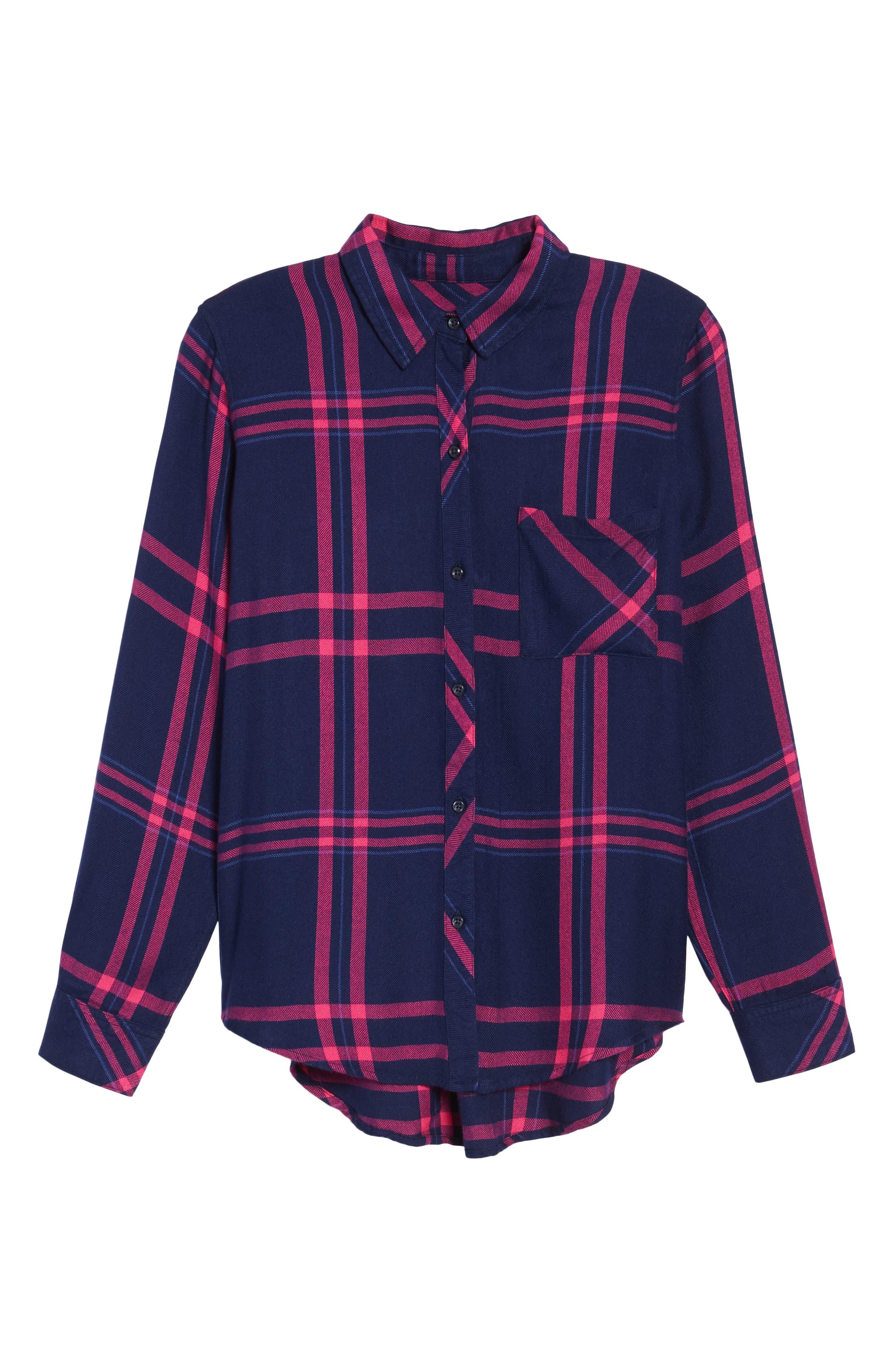 Hunter Plaid Shirt,                             Alternate thumbnail 716, color,