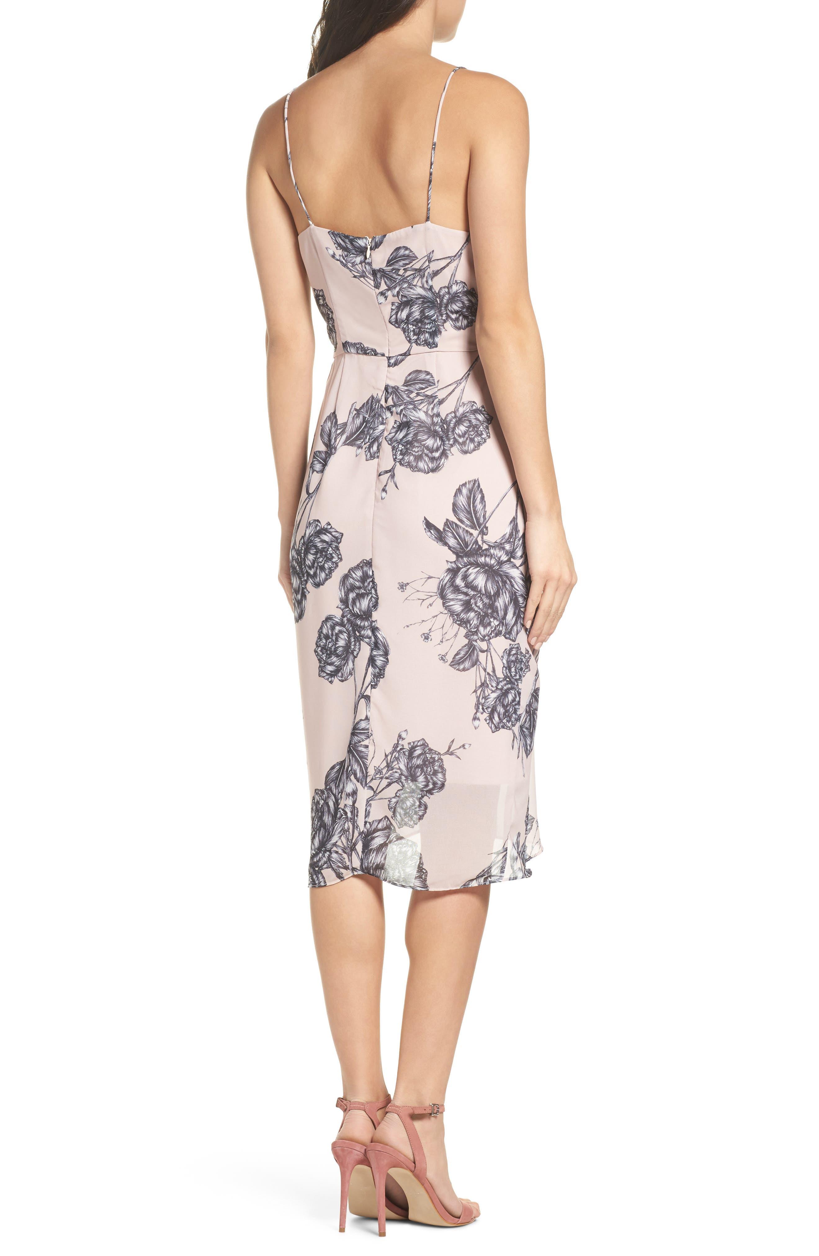 Bellini Rose Drape Dress,                             Alternate thumbnail 2, color,                             650