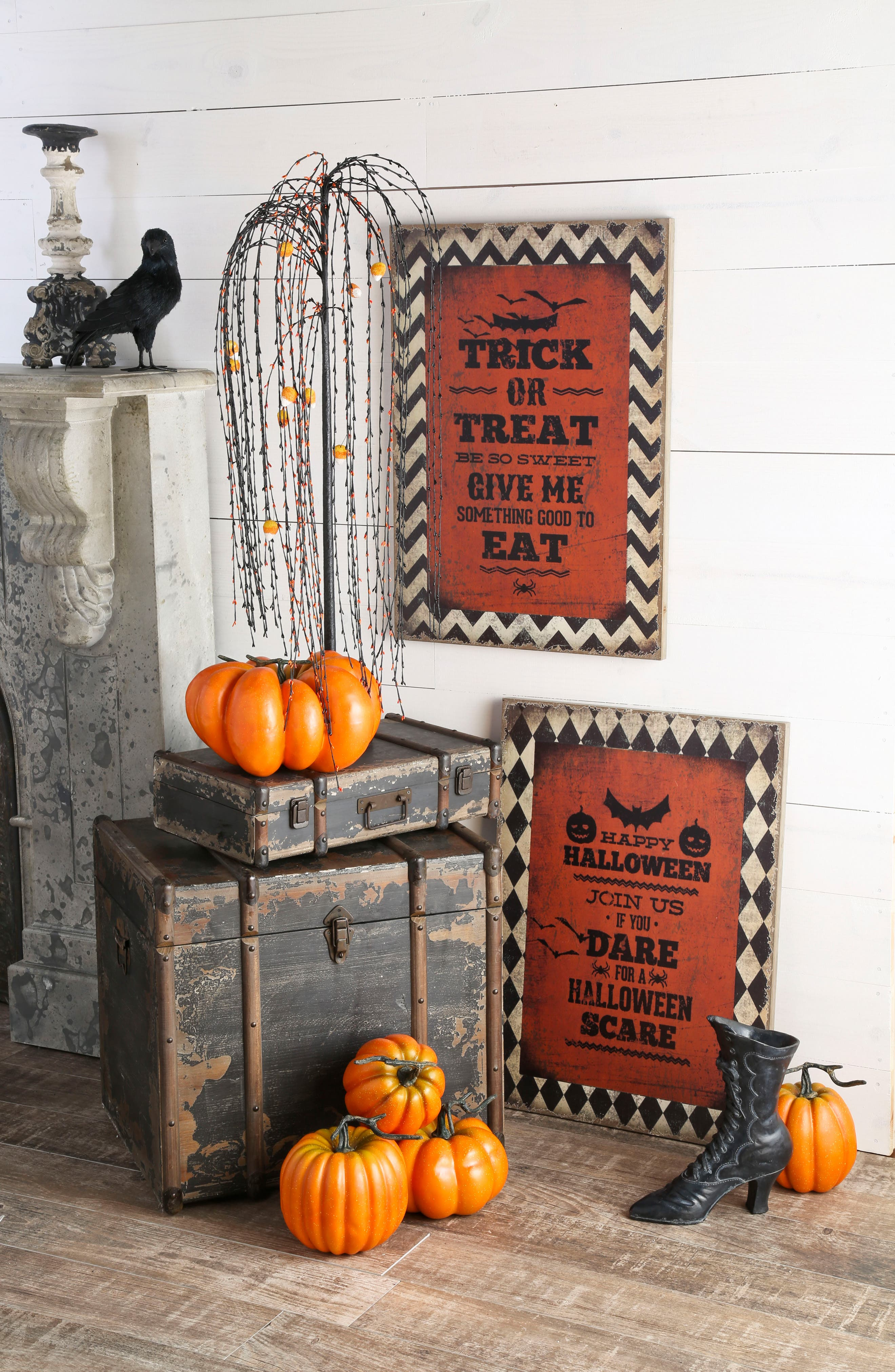Trick or Treat Wood Sign,                             Alternate thumbnail 2, color,                             ORANGE