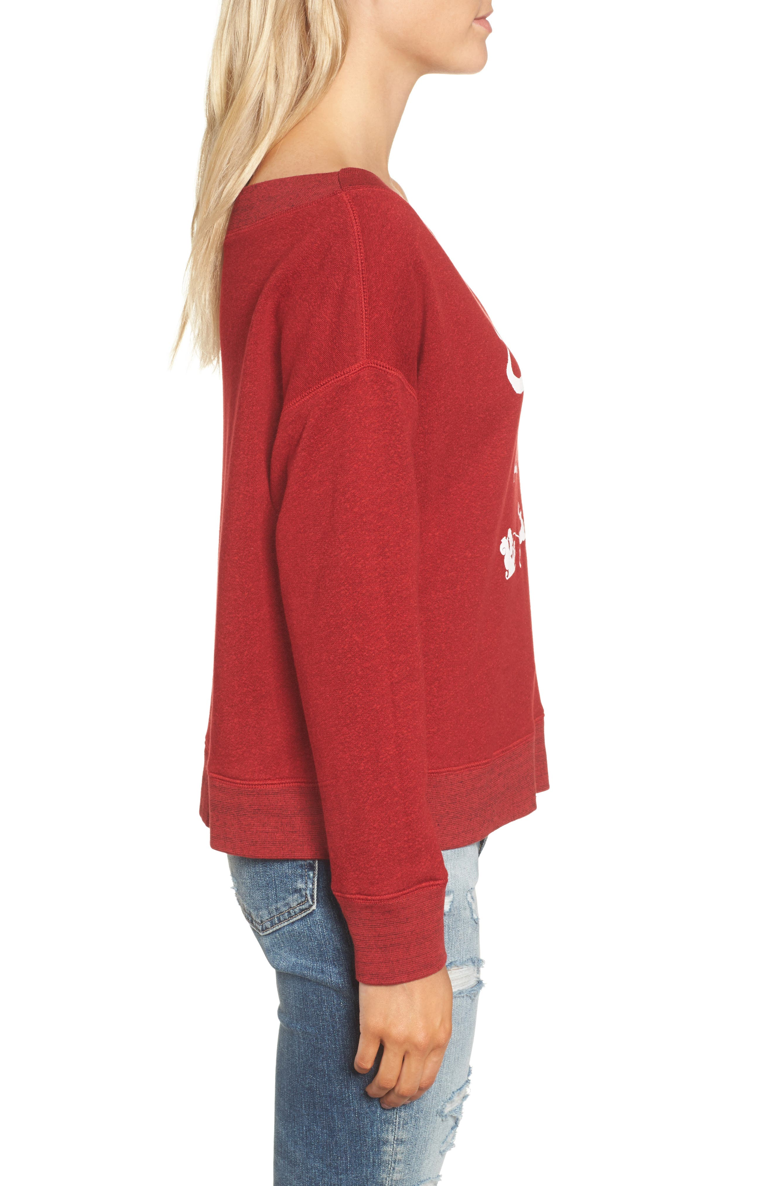 Sleigh All Day Sweatshirt,                             Alternate thumbnail 3, color,                             604