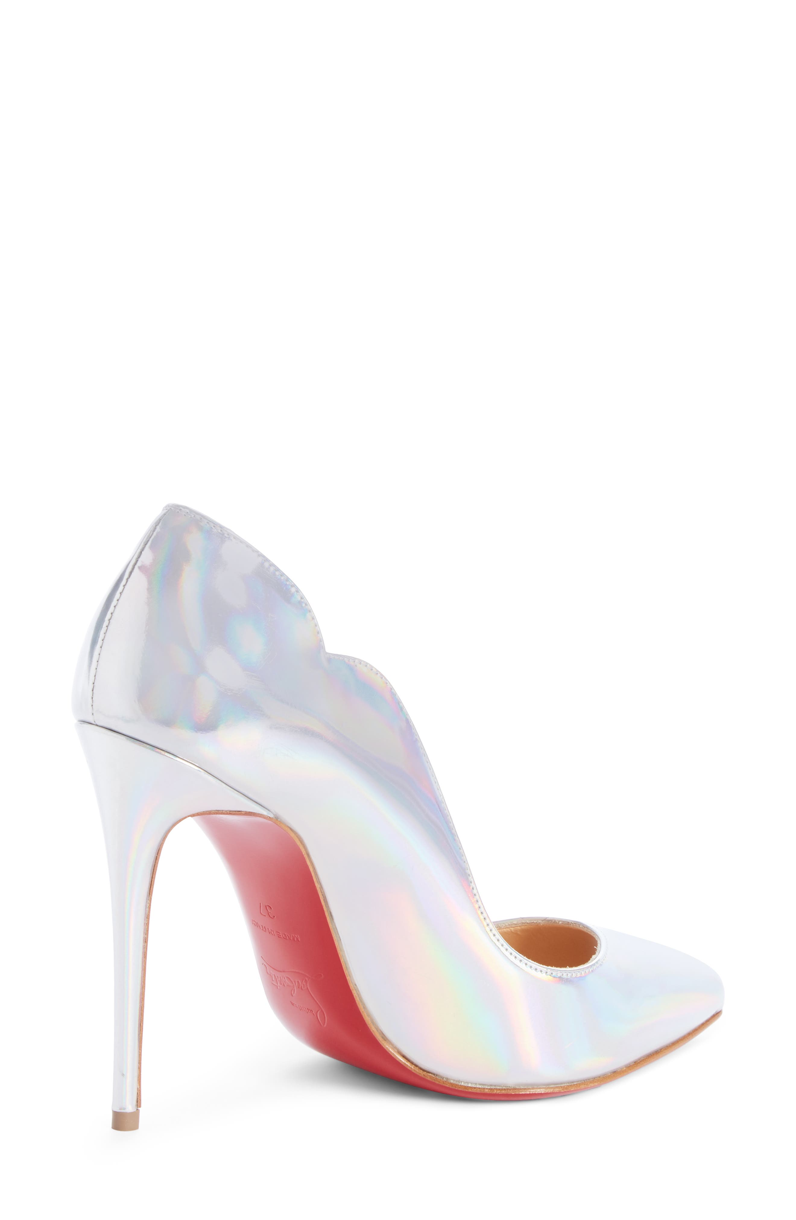Hot Chick Scallop Pump,                             Alternate thumbnail 2, color,                             SILVER