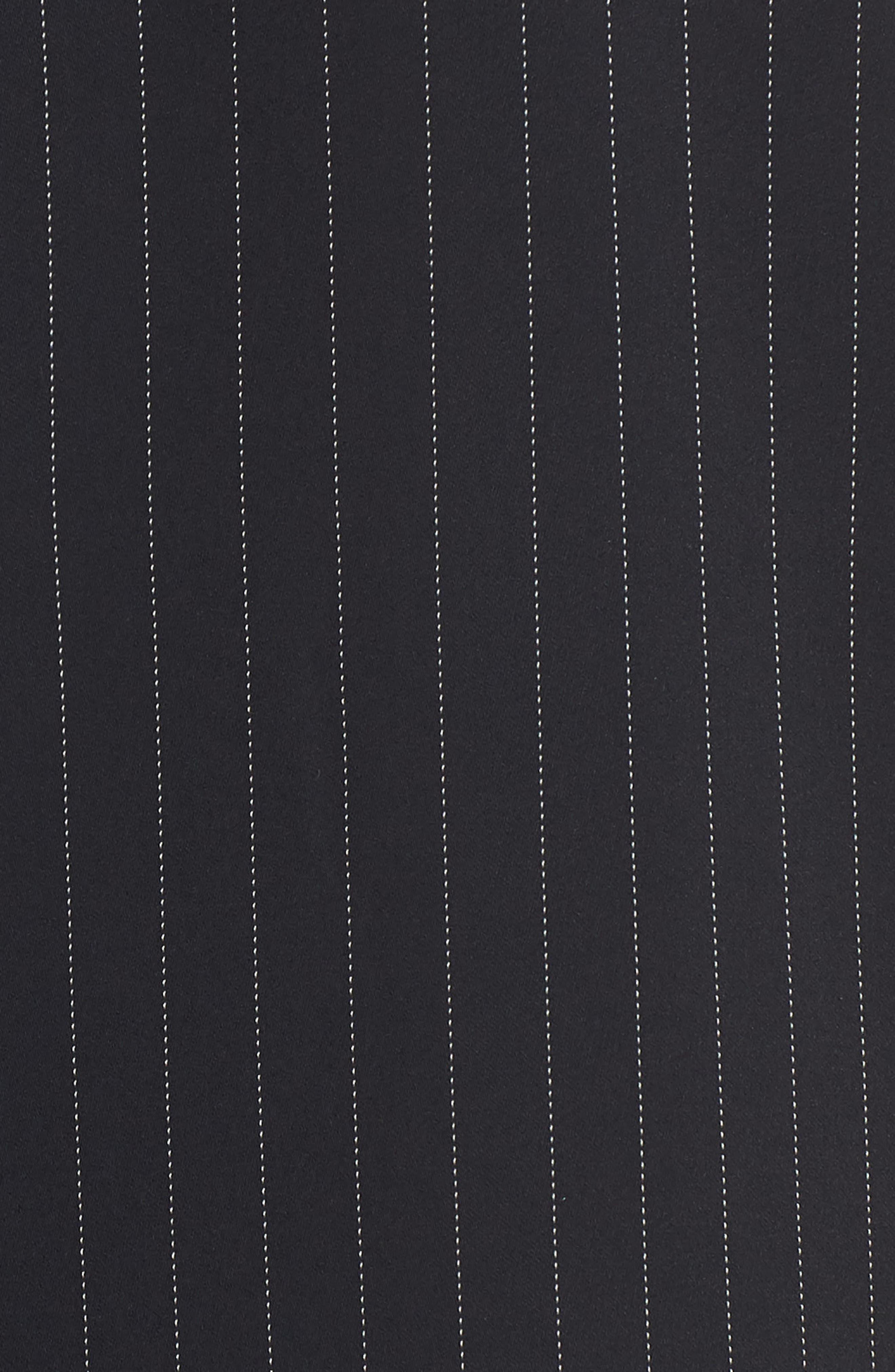 Crop Jumpsuit,                             Alternate thumbnail 6, color,                             BLACK DOTTED PINSTRIPE