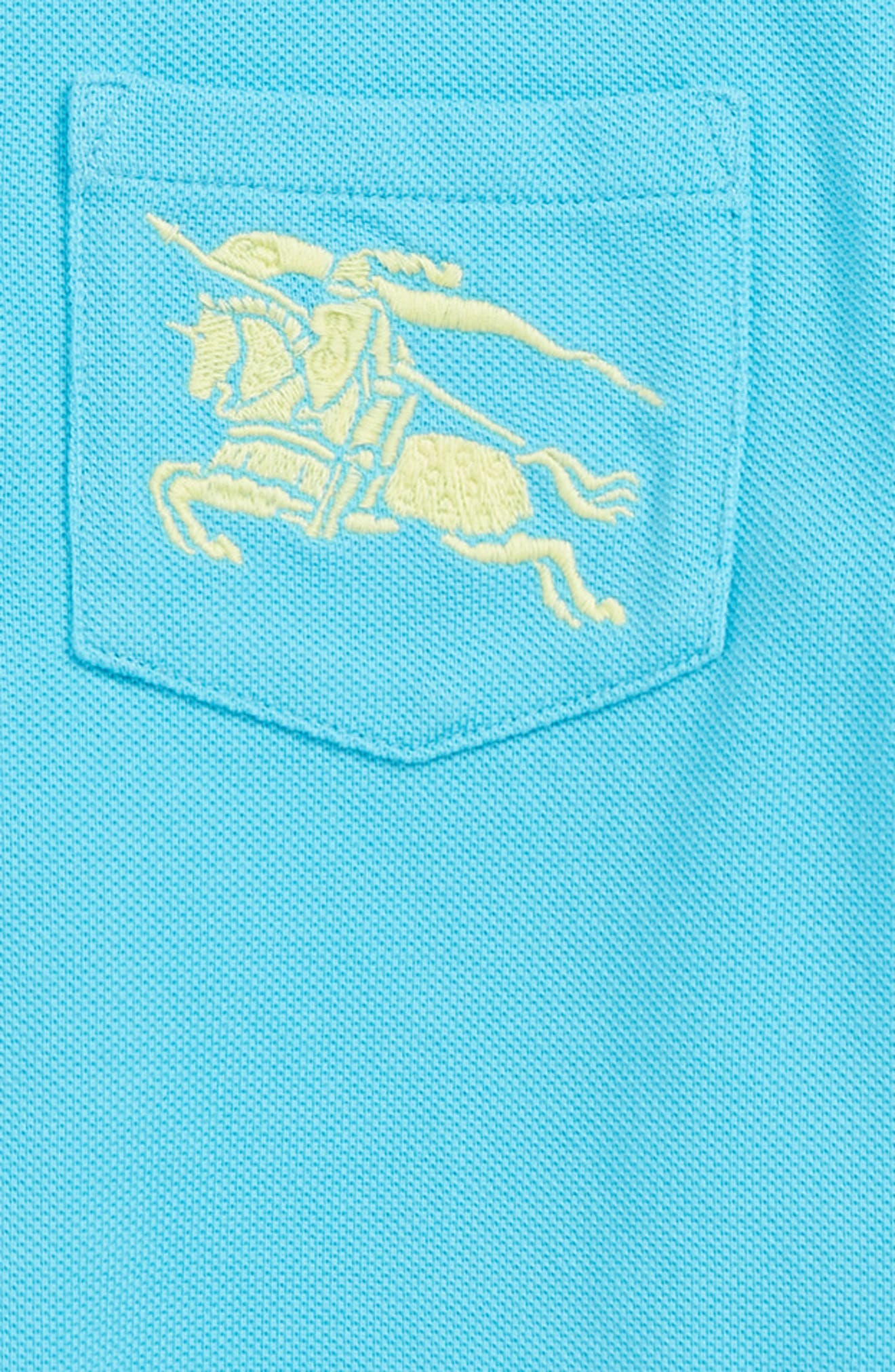 Grant Polo,                             Alternate thumbnail 2, color,                             BRIGHT CYAN BLUE