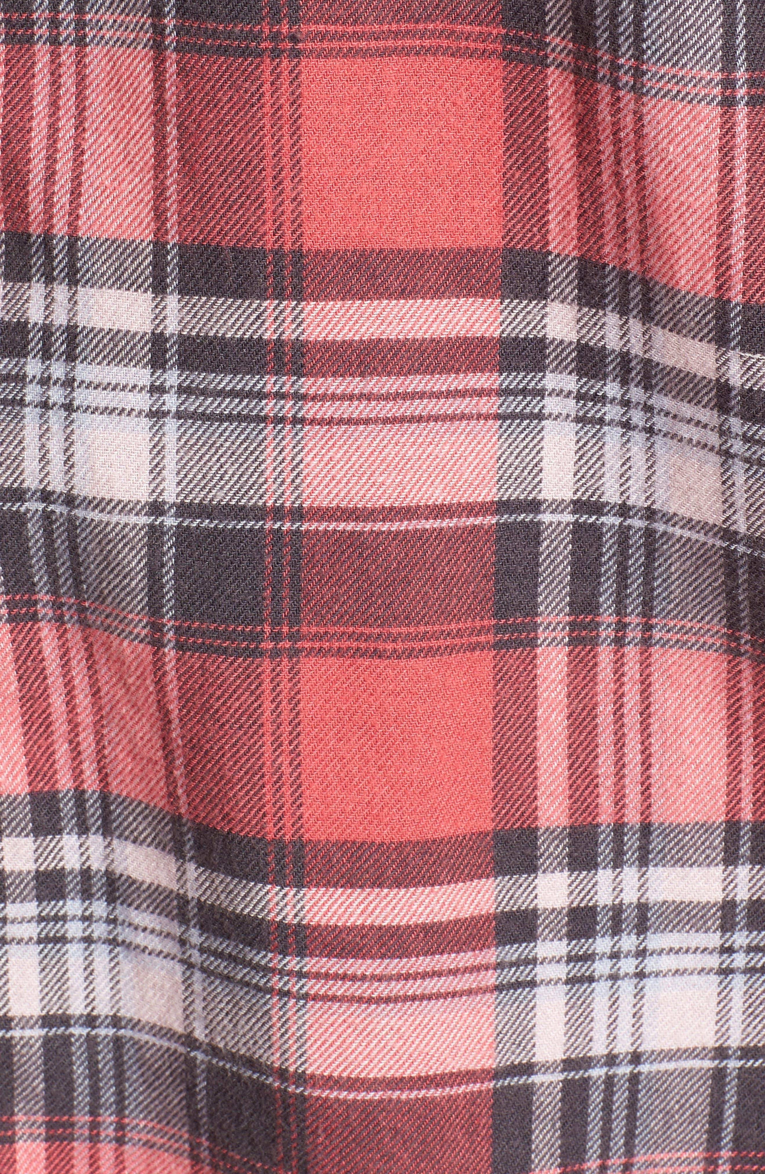 Milo Plaid Shirt,                             Alternate thumbnail 5, color,                             BONFIRE/ ASH