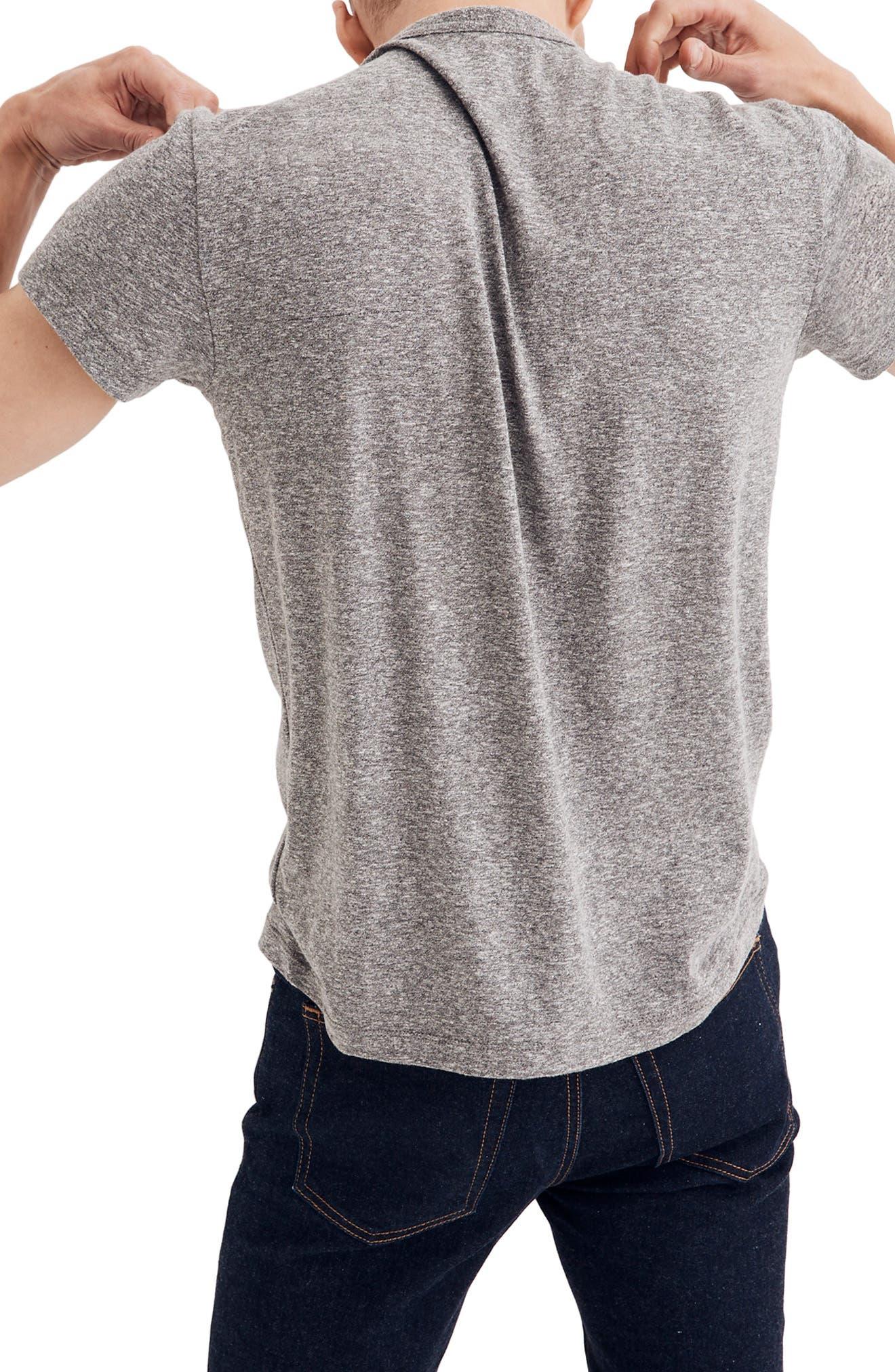 MADEWELL,                             Crewneck T-Shirt,                             Alternate thumbnail 2, color,                             HEATHER GREY