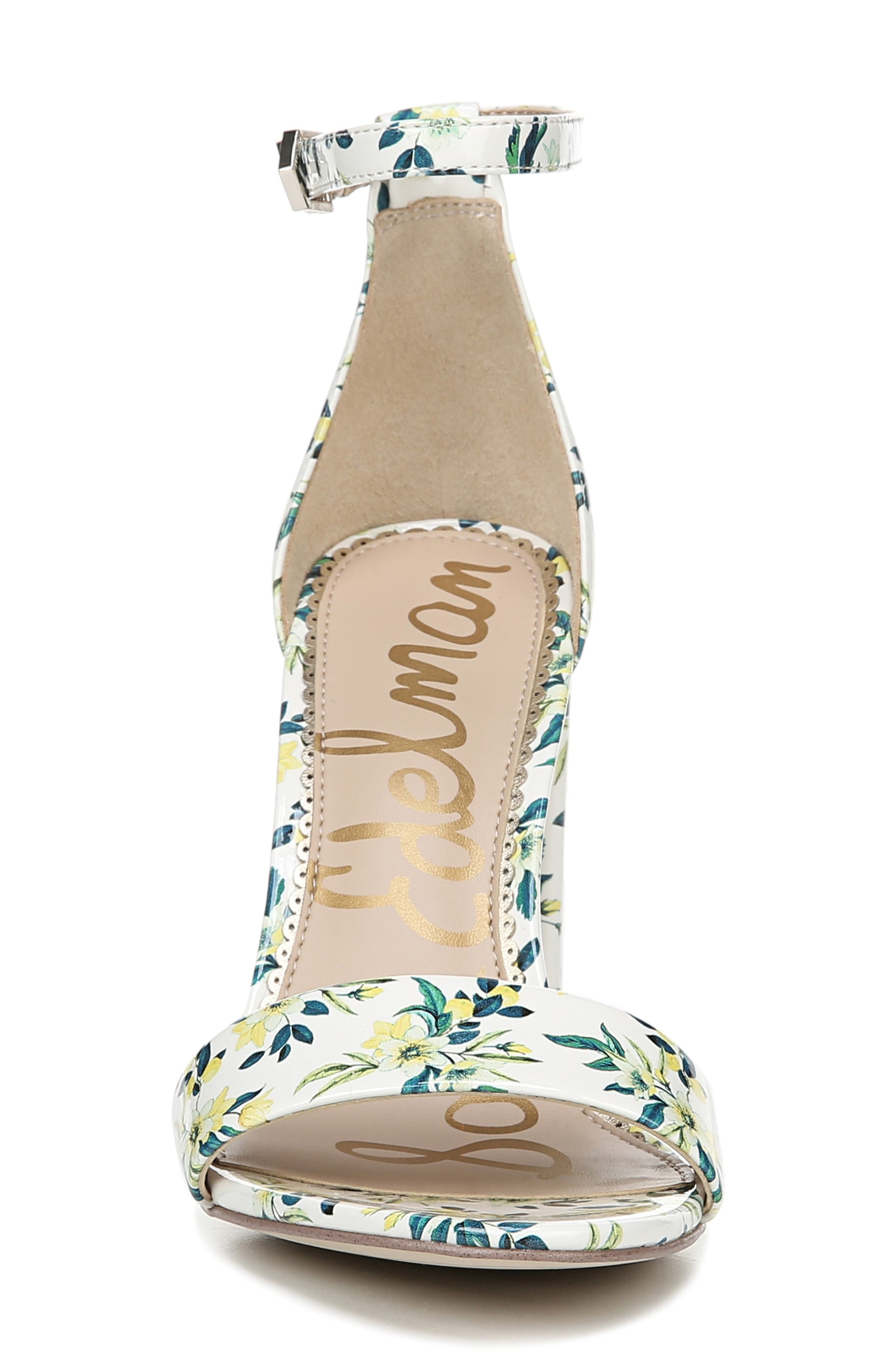 Yaro Ankle Strap Sandal,                             Alternate thumbnail 4, color,                             WHITE MULTI FABRIC