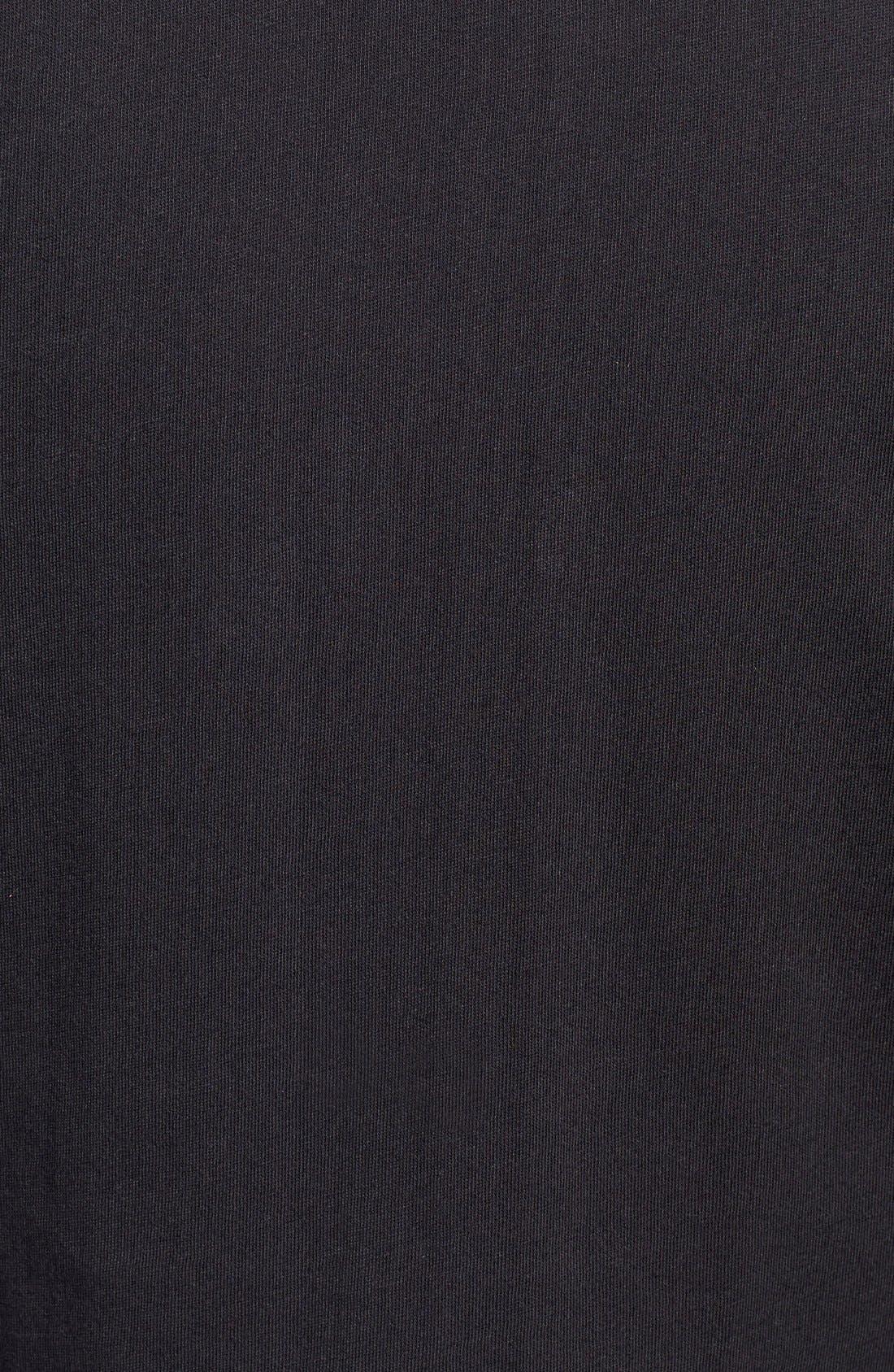 'Reworkd' Slim Fit Solid Mixed Media Sport Shirt,                             Alternate thumbnail 2, color,                             001