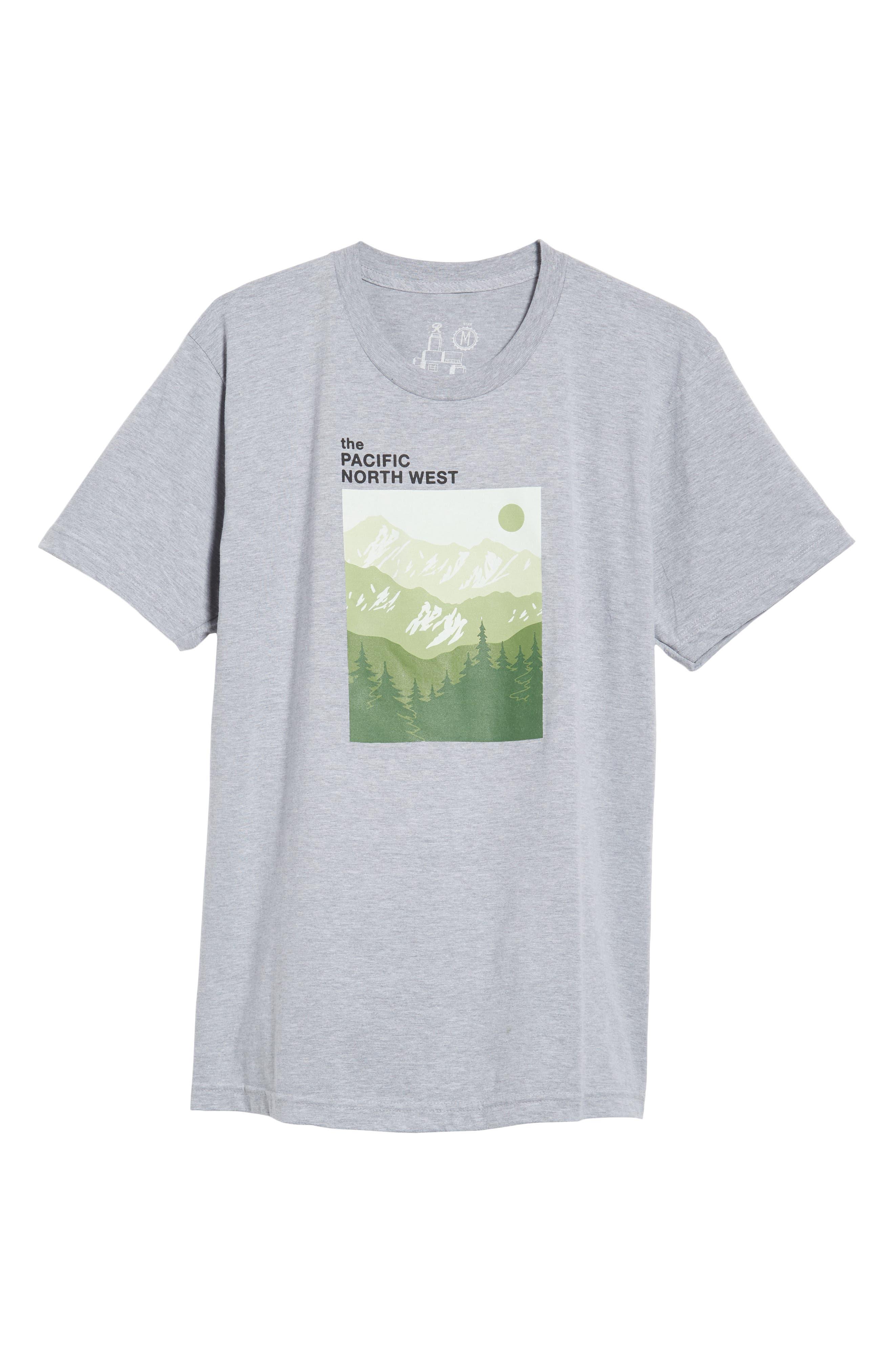 PNW Mountains Graphic T-Shirt,                             Alternate thumbnail 6, color,                             020