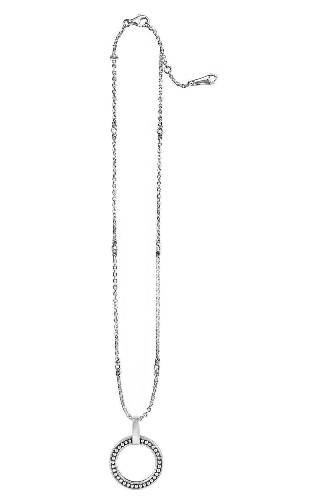 'Enso' Caviar Pendant Necklace,                             Alternate thumbnail 2, color,                             040