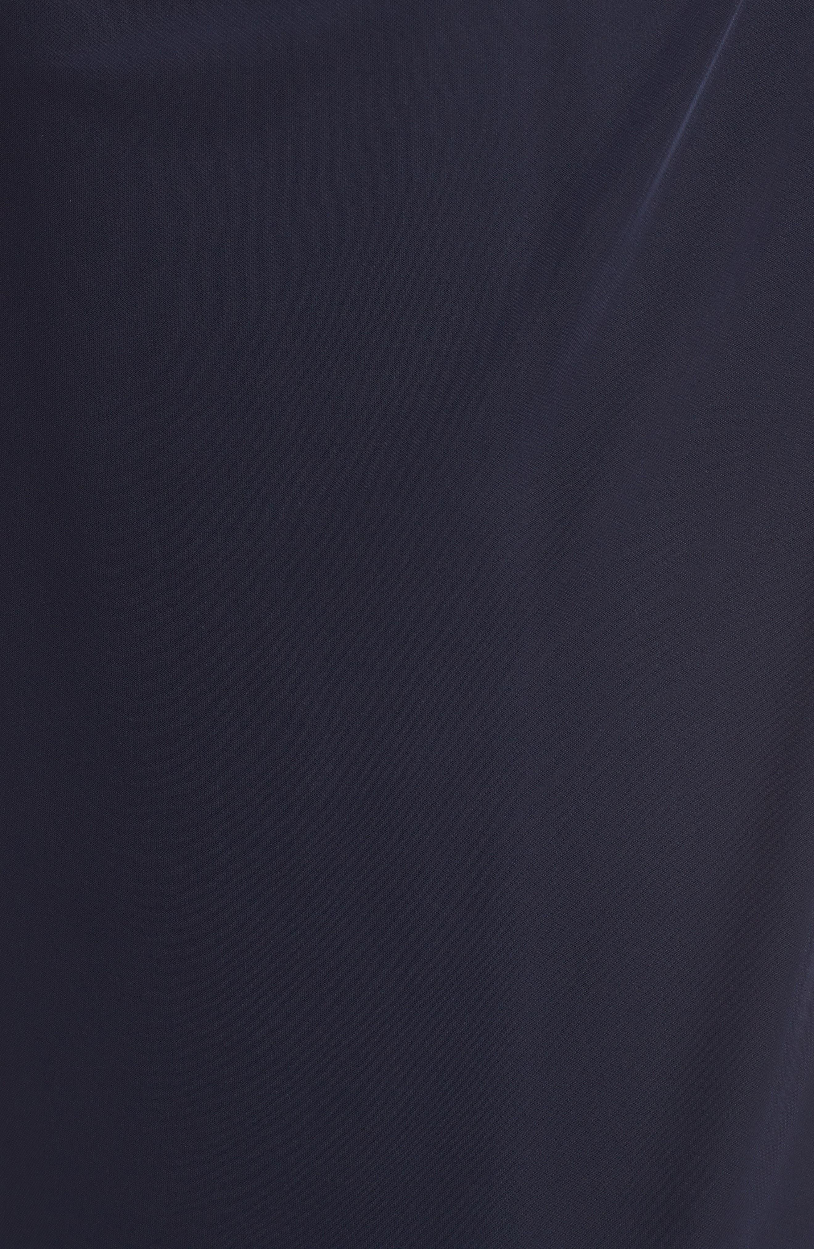 Embellished Cold Shoulder Gown,                             Alternate thumbnail 5, color,                             NAVY