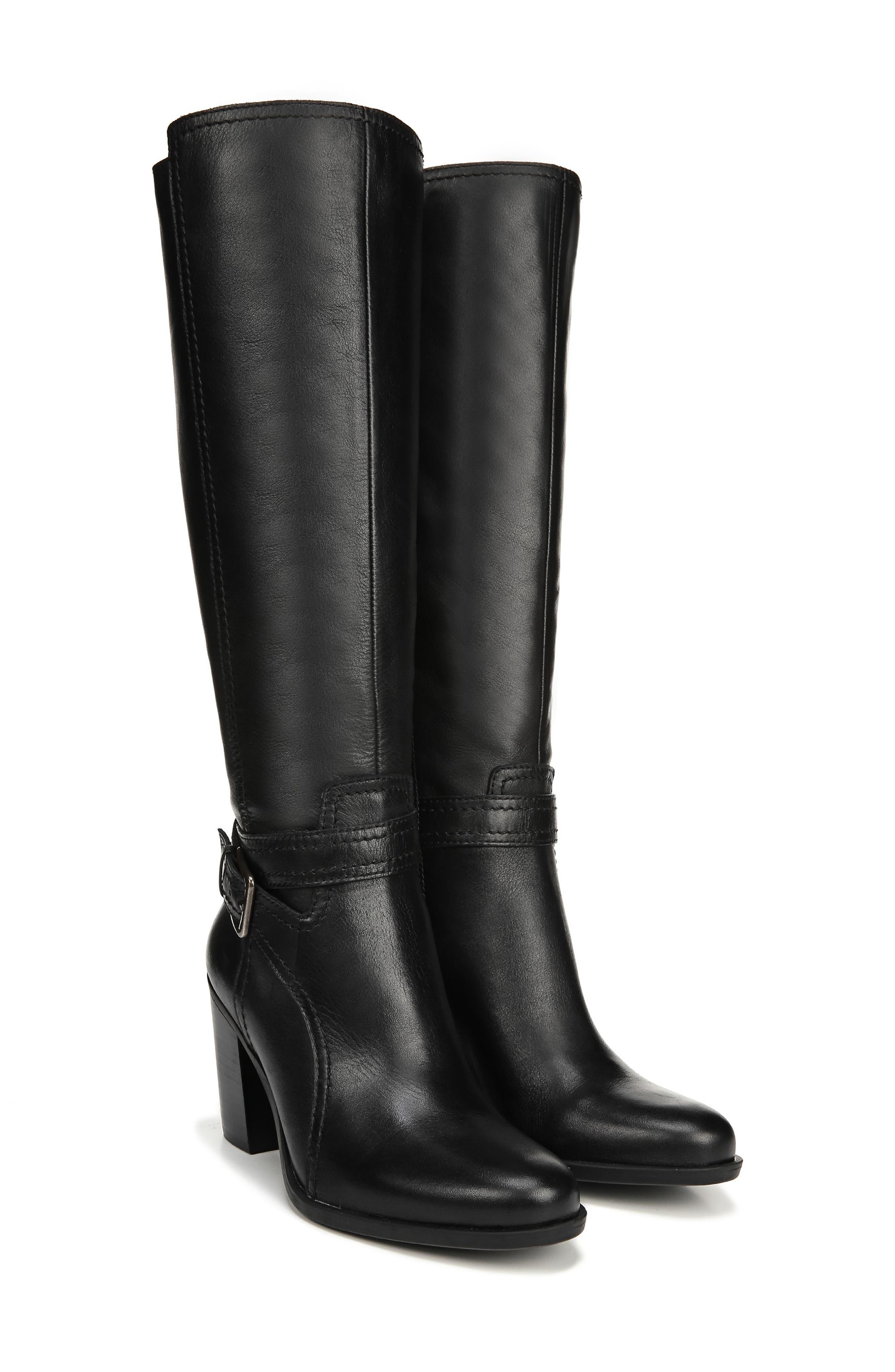 NATURALIZER,                             Kelsey Knee High Boot,                             Alternate thumbnail 8, color,                             BLACK LEATHER