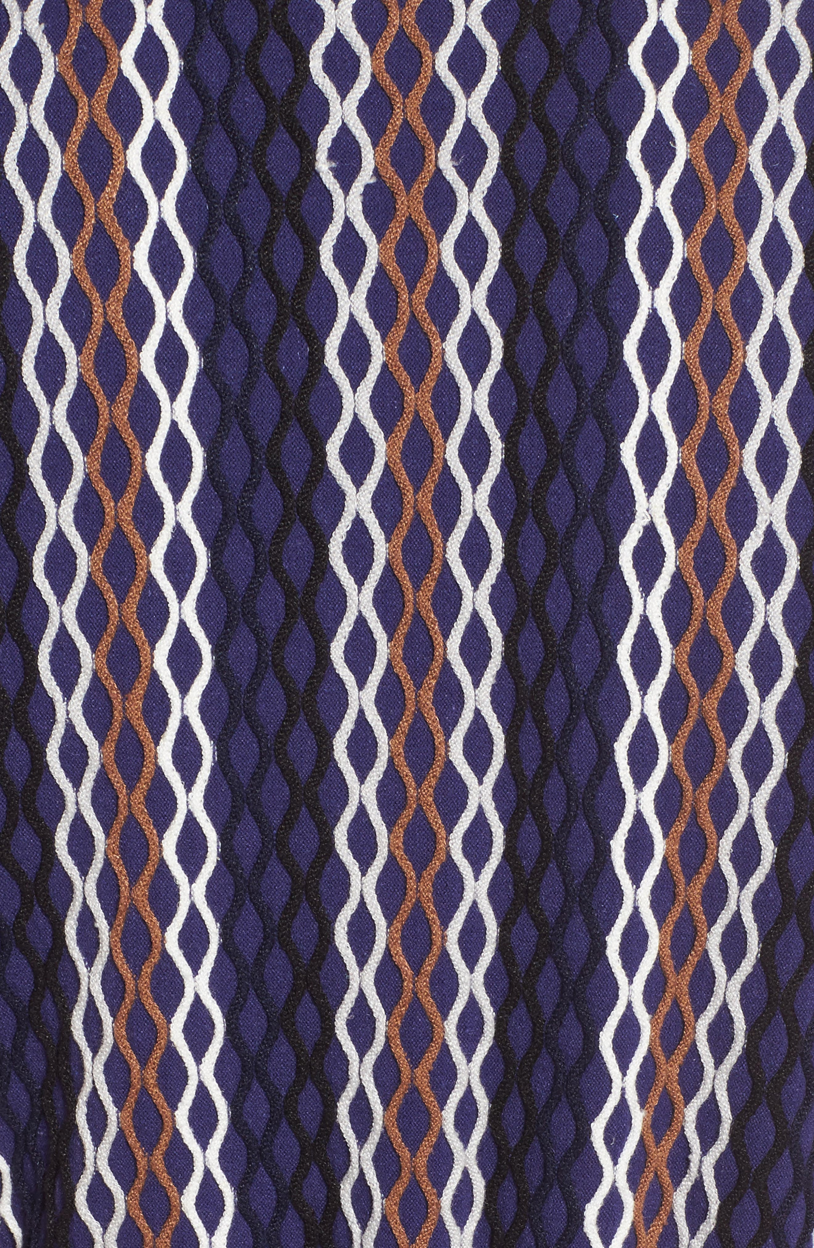 Squiggled Up Faux Wrap Dress,                             Alternate thumbnail 5, color,                             490