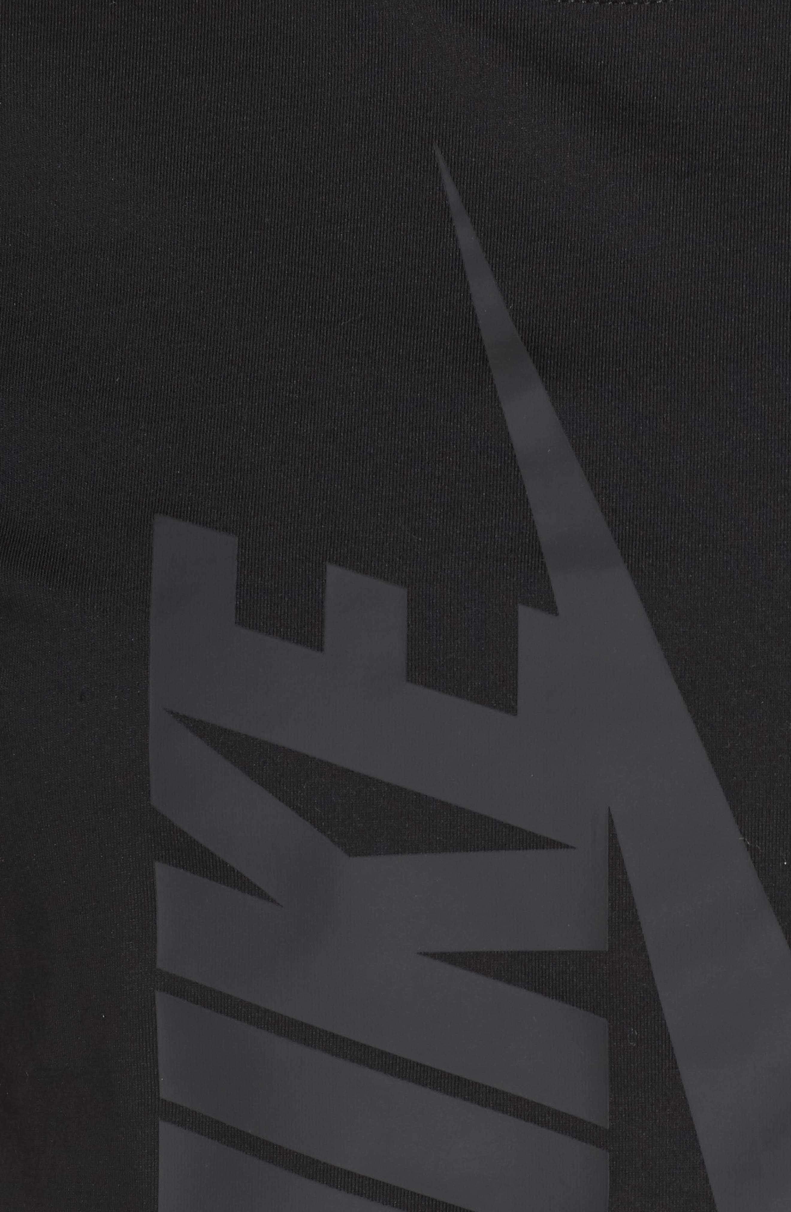 NikeLab Collection Jersey Crop Top,                             Alternate thumbnail 6, color,                             BLACK/ BLACK