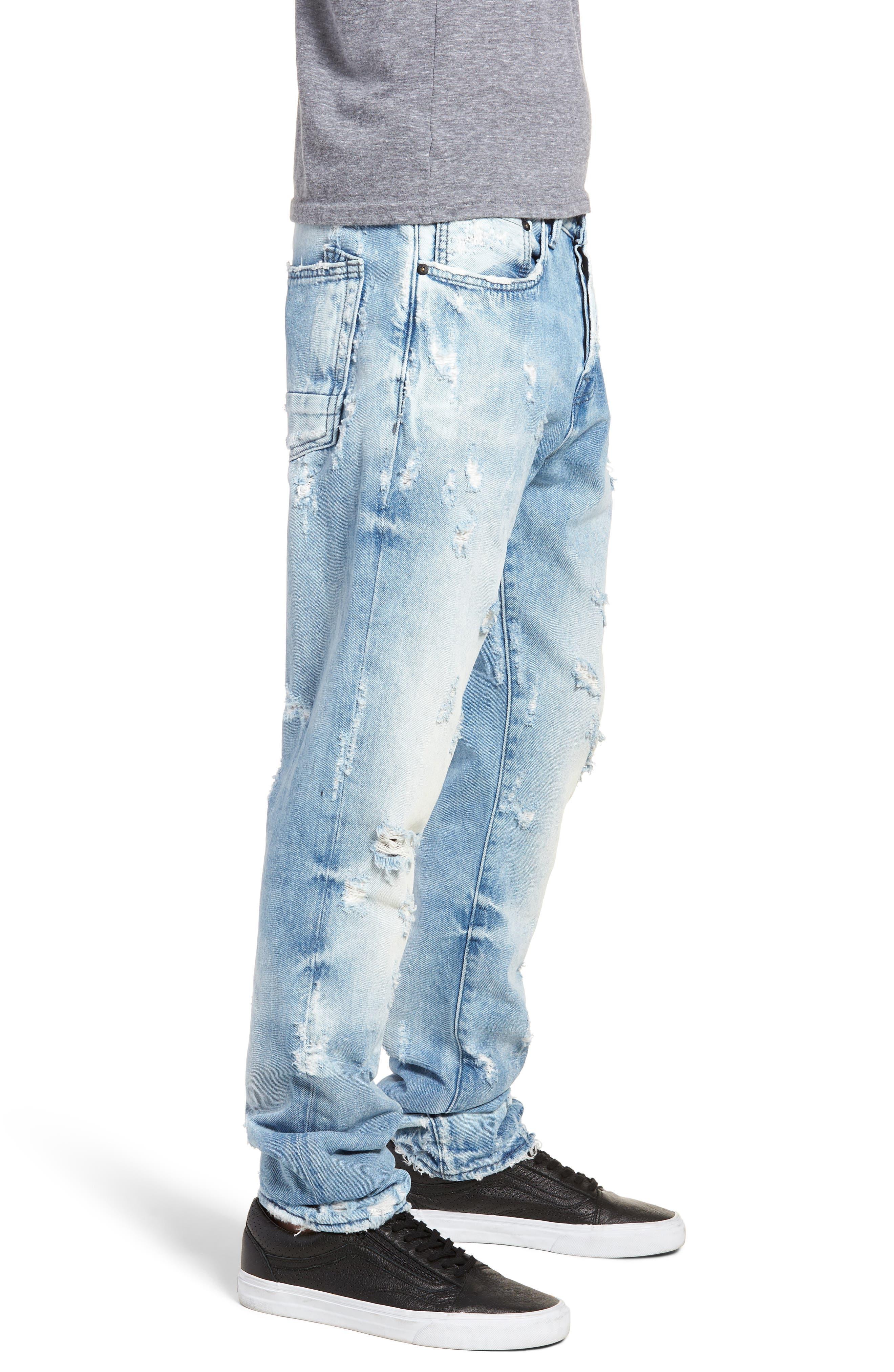Le Sabre Slim Fit Jeans,                             Alternate thumbnail 3, color,                             454
