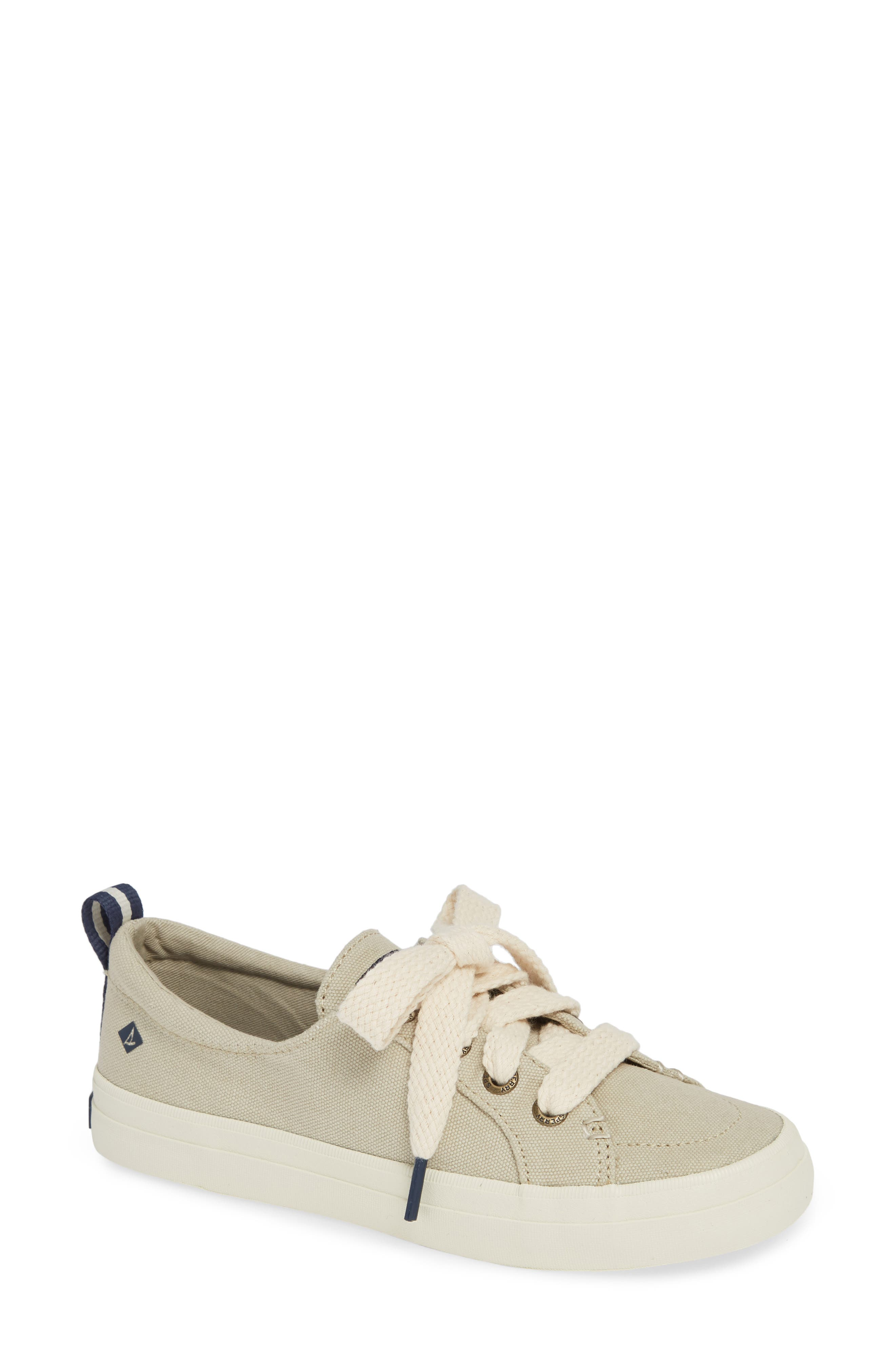 Crest Vibe Sneaker,                         Main,                         color, IVORY CANVAS