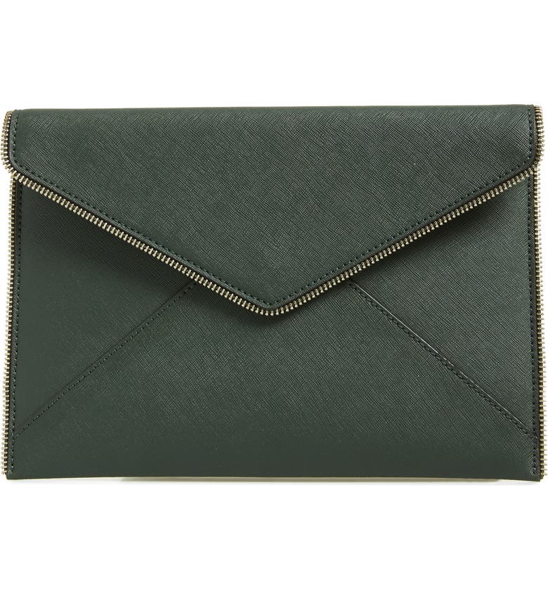 Leo Envelope Clutch,                         Main,                         color, PINE