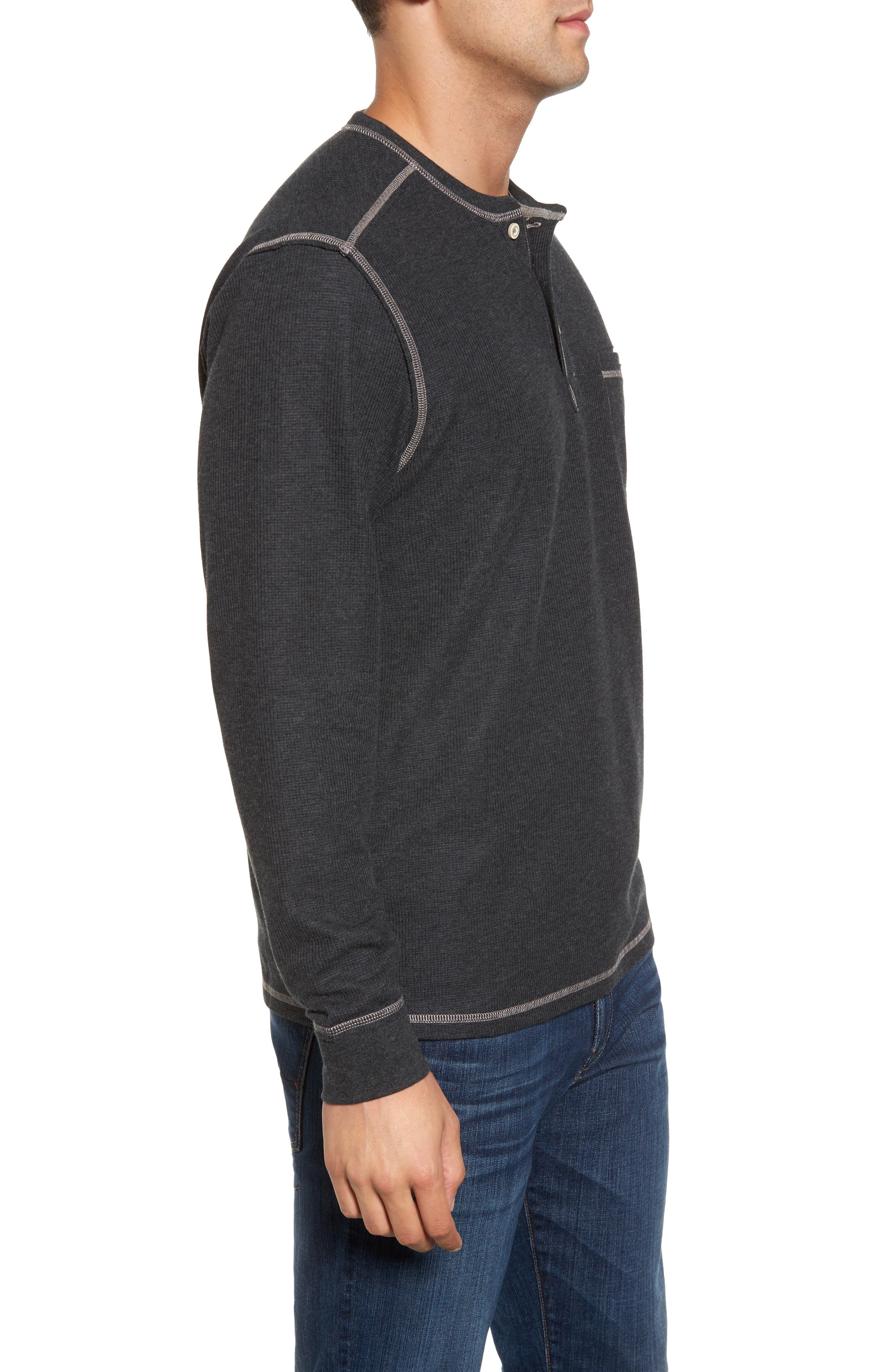 Island Thermal Standard Fit Thermal Henley,                             Alternate thumbnail 3, color,                             050