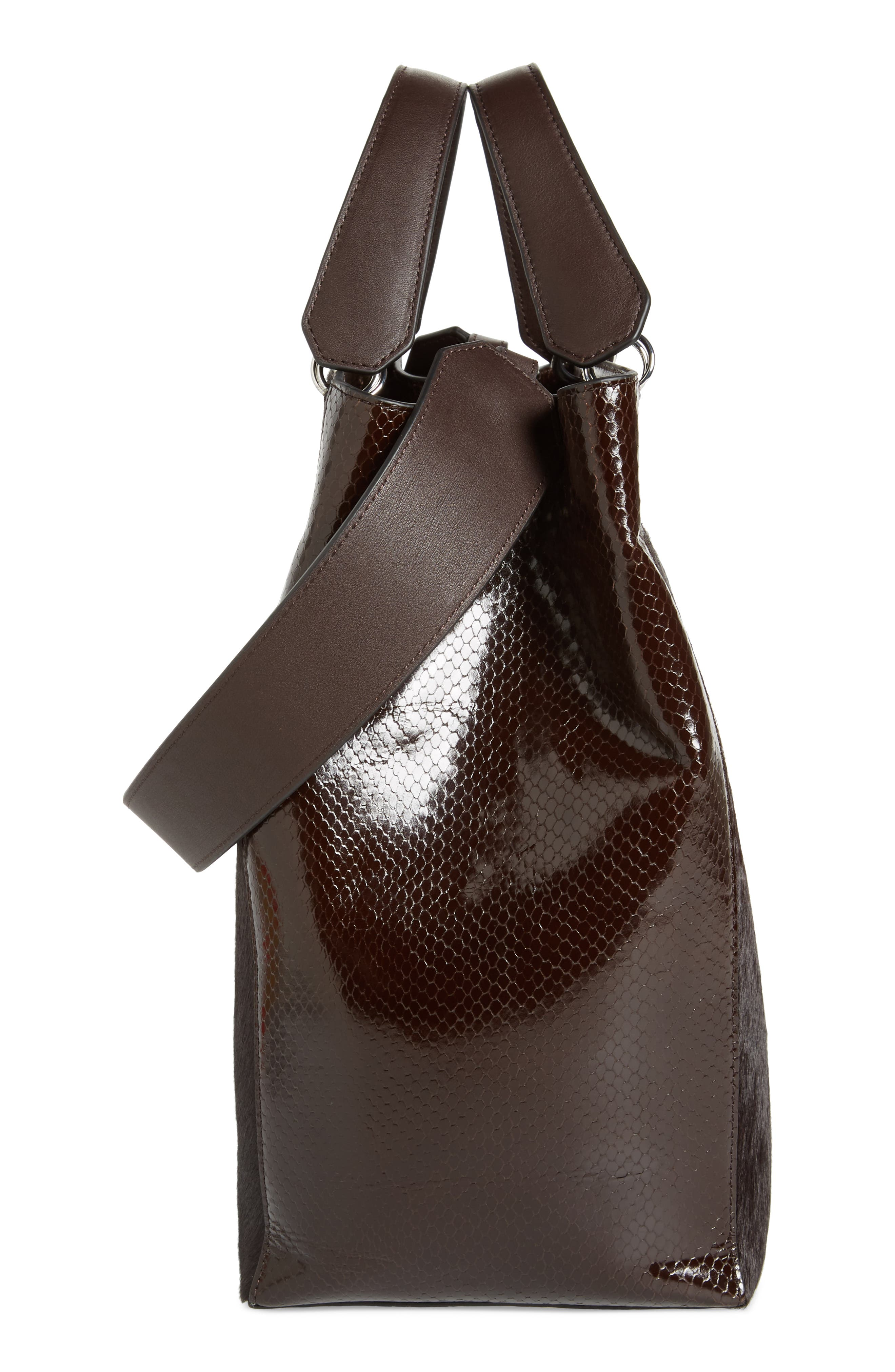 Large Eloise Genuine Calf Hair & Leather Tote,                             Alternate thumbnail 5, color,                             202