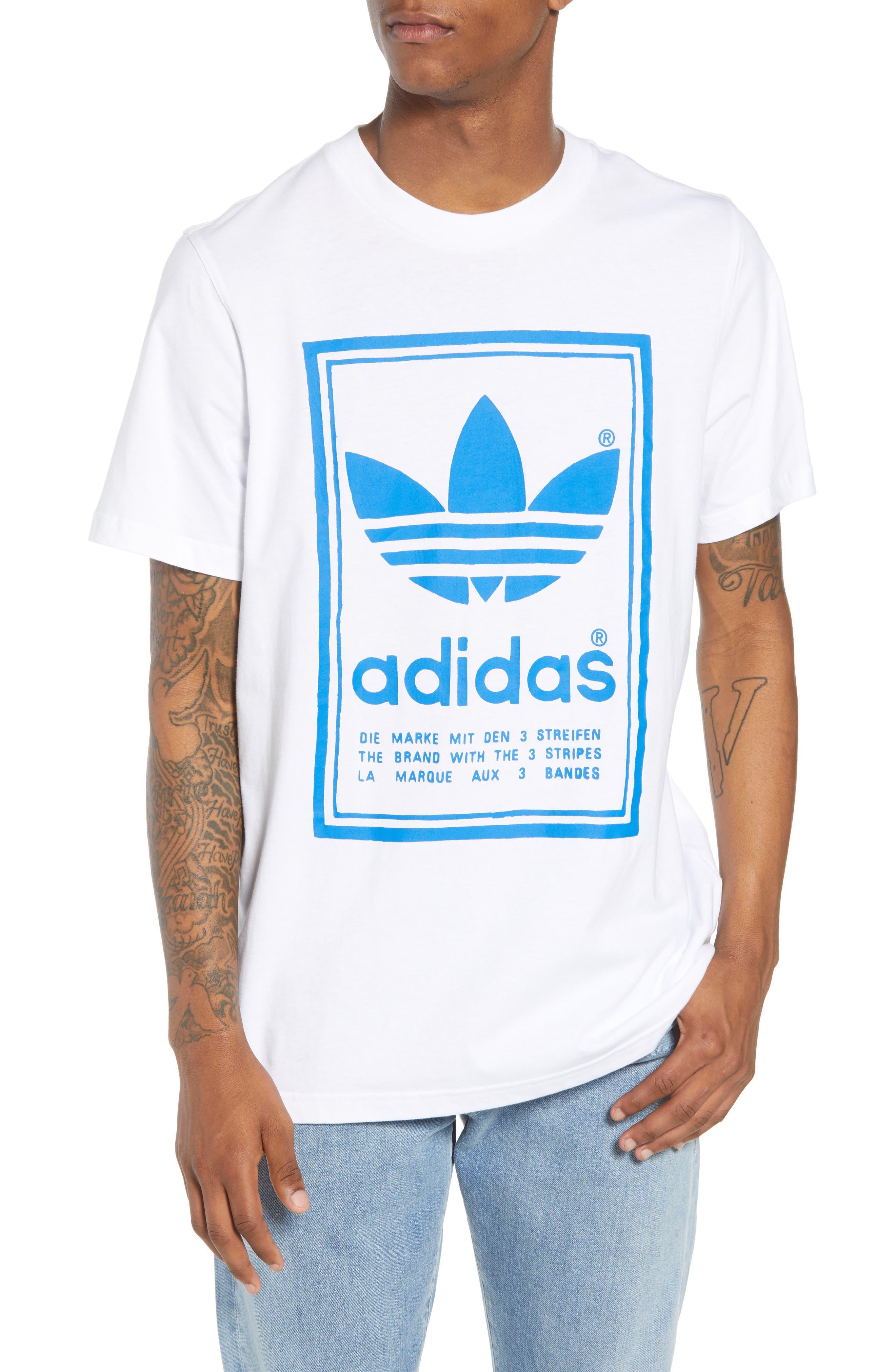 adidas Vintage Logo Graphic T-Shirt,                             Main thumbnail 1, color,                             100