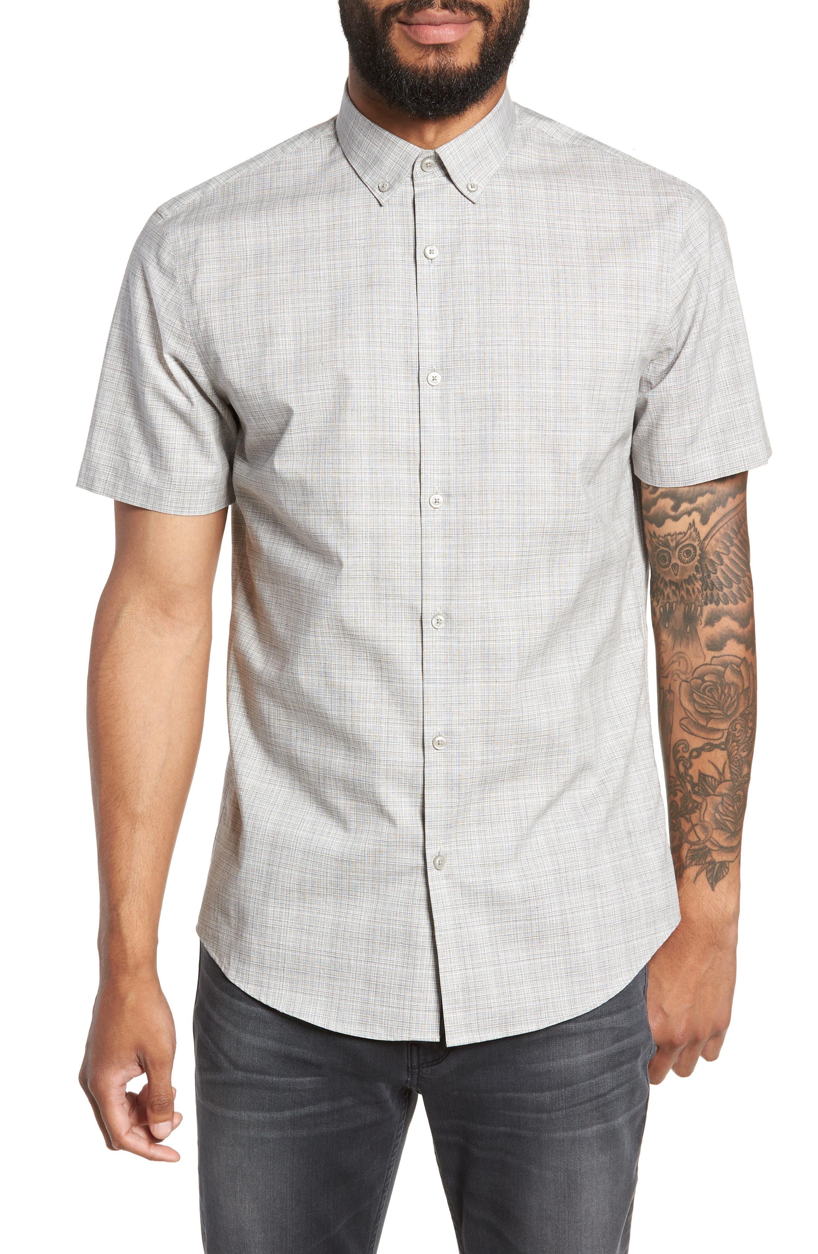 Check Sport Shirt,                         Main,                         color, 050