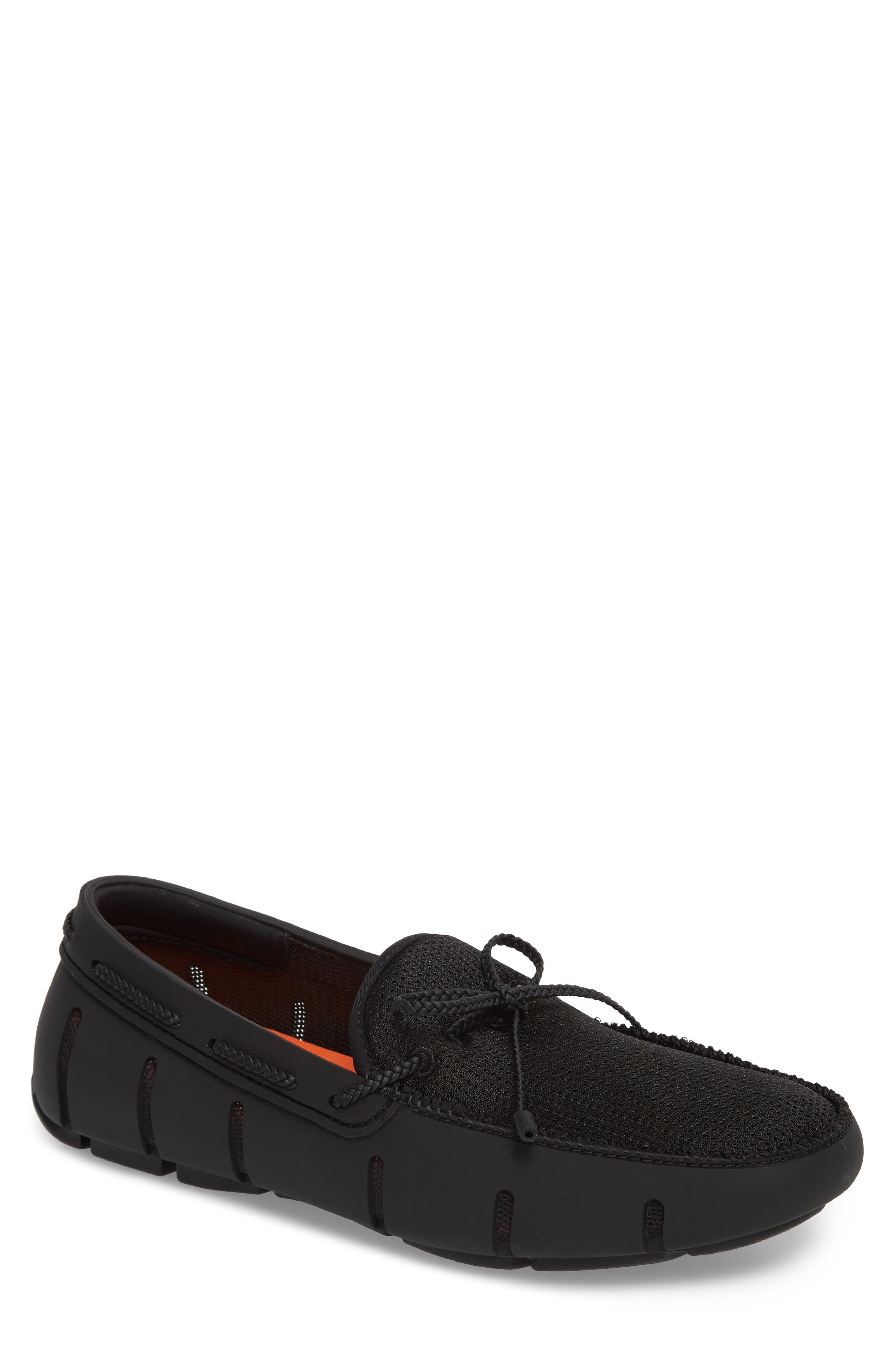 Lace Loafer,                         Main,                         color, BLACK/ BLACK