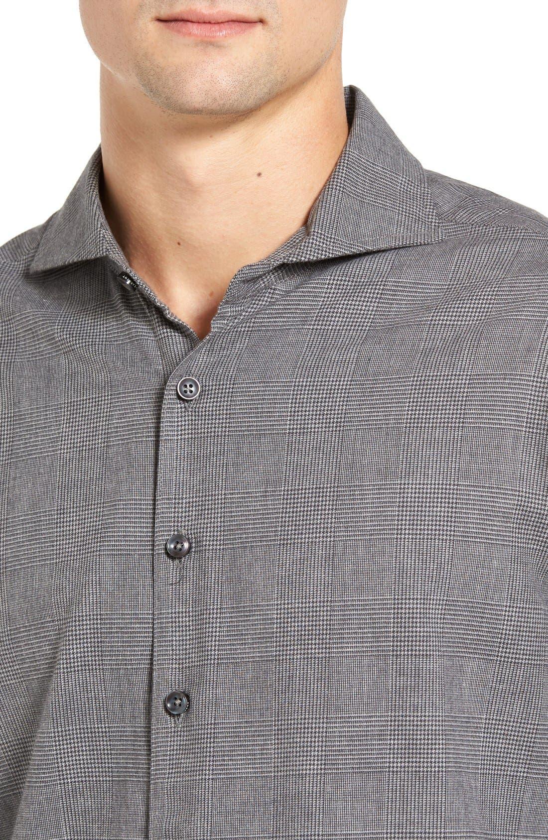 Regular Fit Glen Plaid Sport Shirt,                             Alternate thumbnail 4, color,                             026