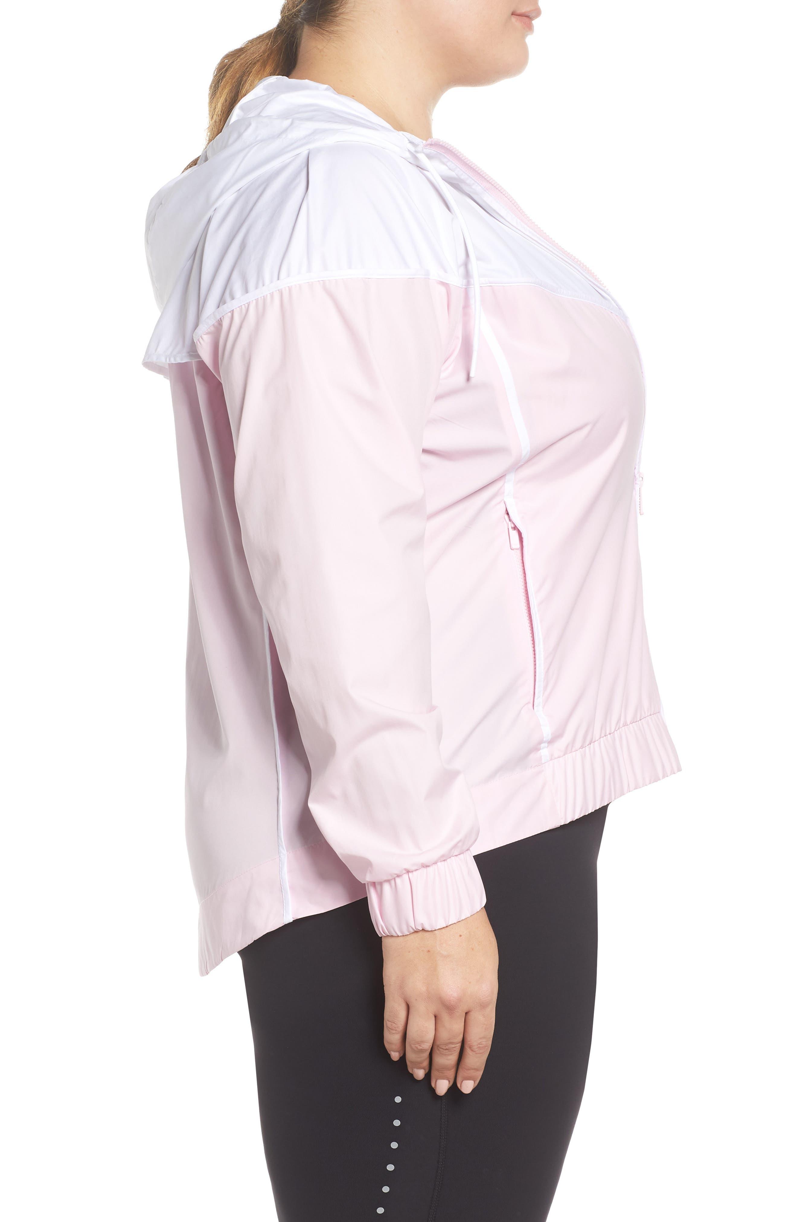 NIKE,                             Sportswear Windrunner Jacket,                             Alternate thumbnail 3, color,                             PINK FOAM/ WHITE/ PINK FOAM