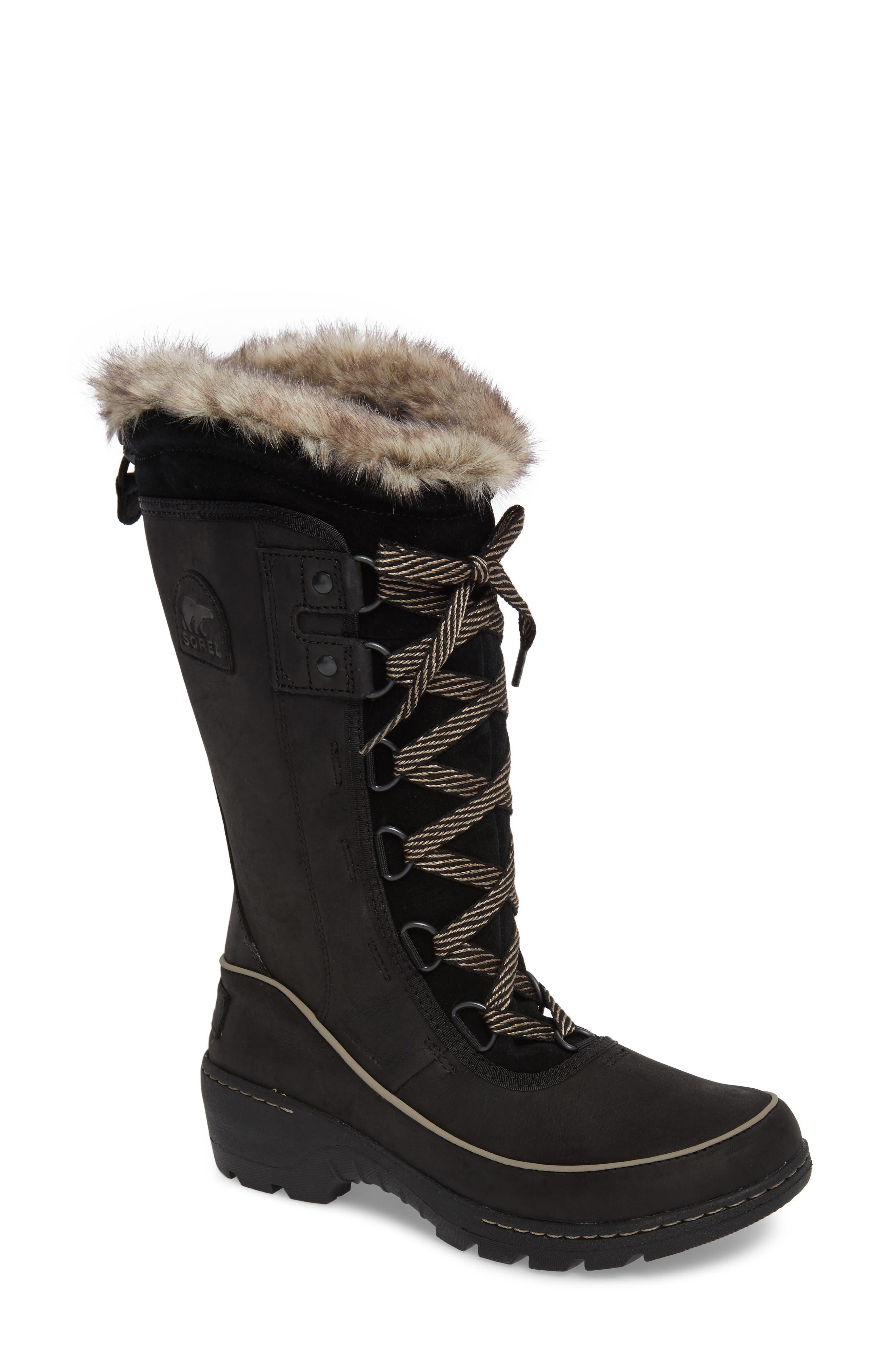 Tivoli II Insulated Winter Boot with Faux Fur Trim,                             Main thumbnail 1, color,                             010