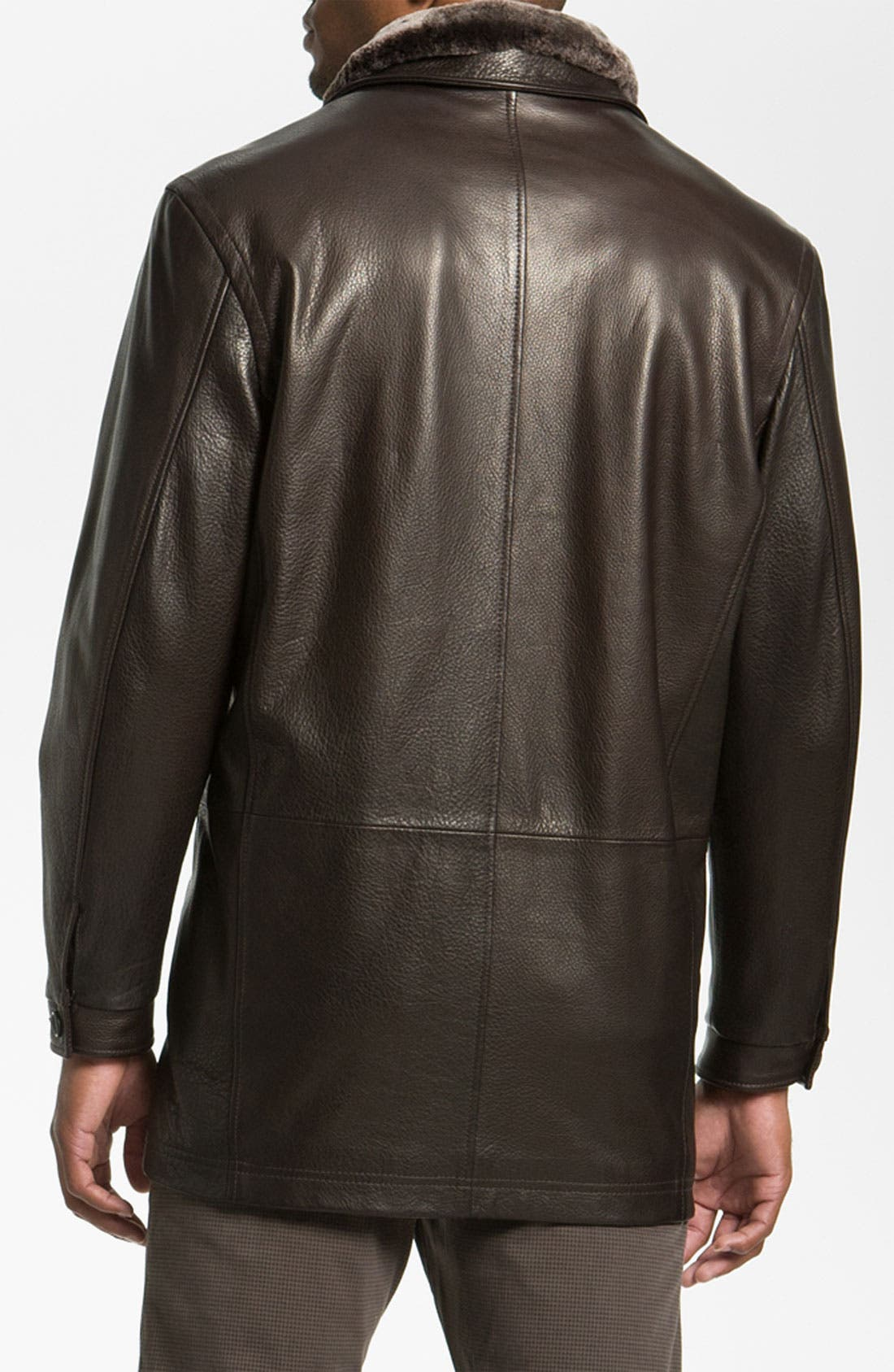 REMY LEATHER,                             Calfskin Leather Jacket,                             Alternate thumbnail 5, color,                             205