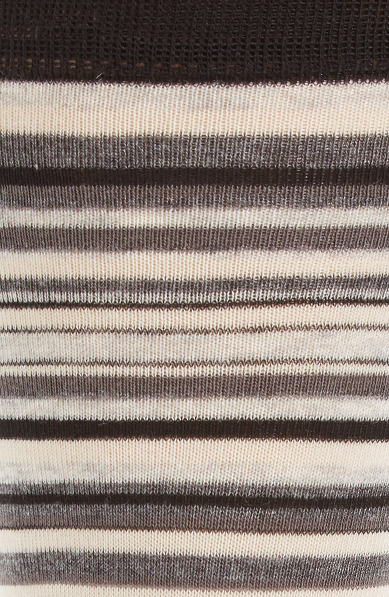 Town Stripe Crew Socks,                             Alternate thumbnail 3, color,                             BLACK/ STORM CLOUD