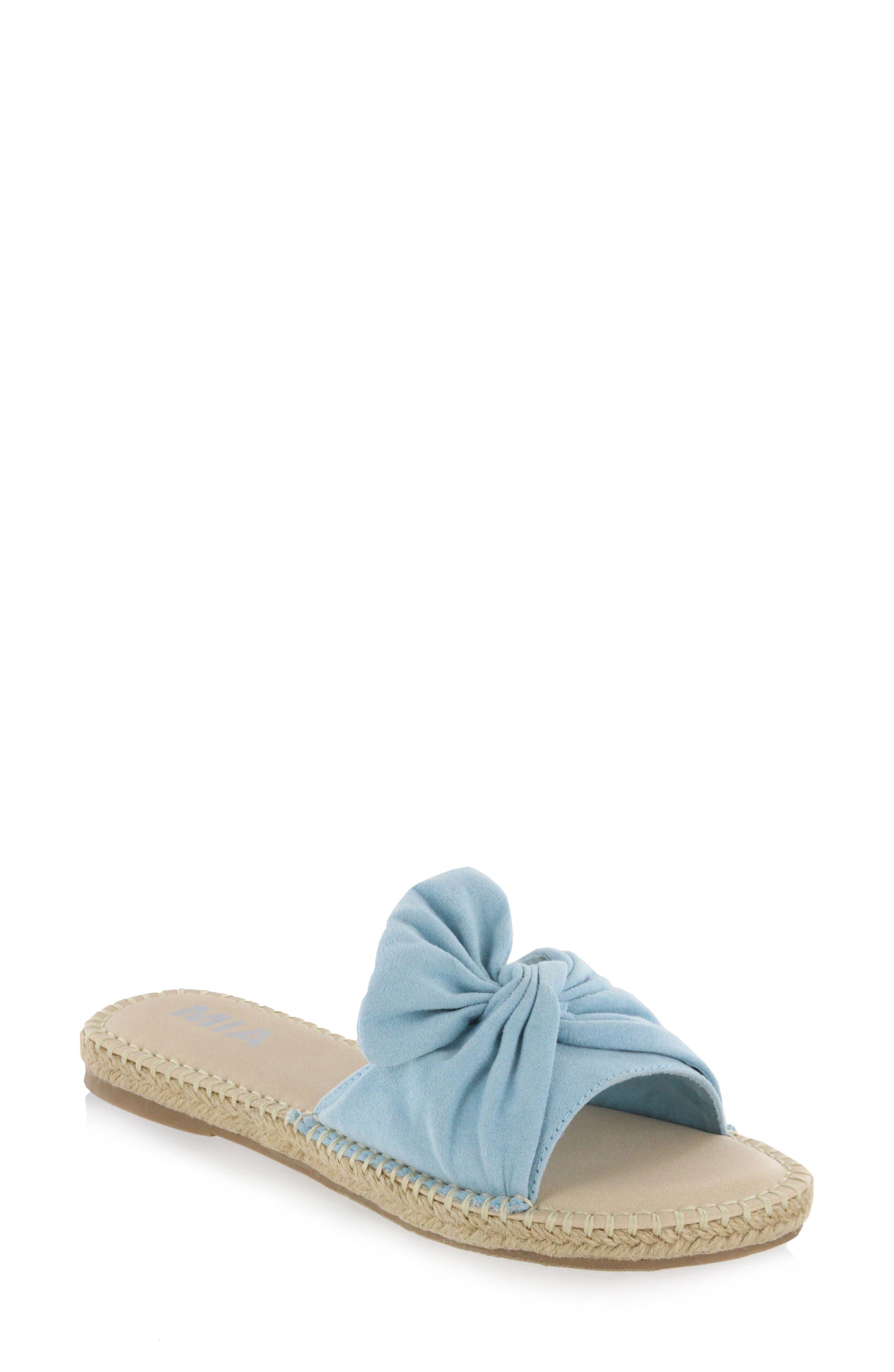 Kensi Knotted Slide Sandal,                             Main thumbnail 3, color,