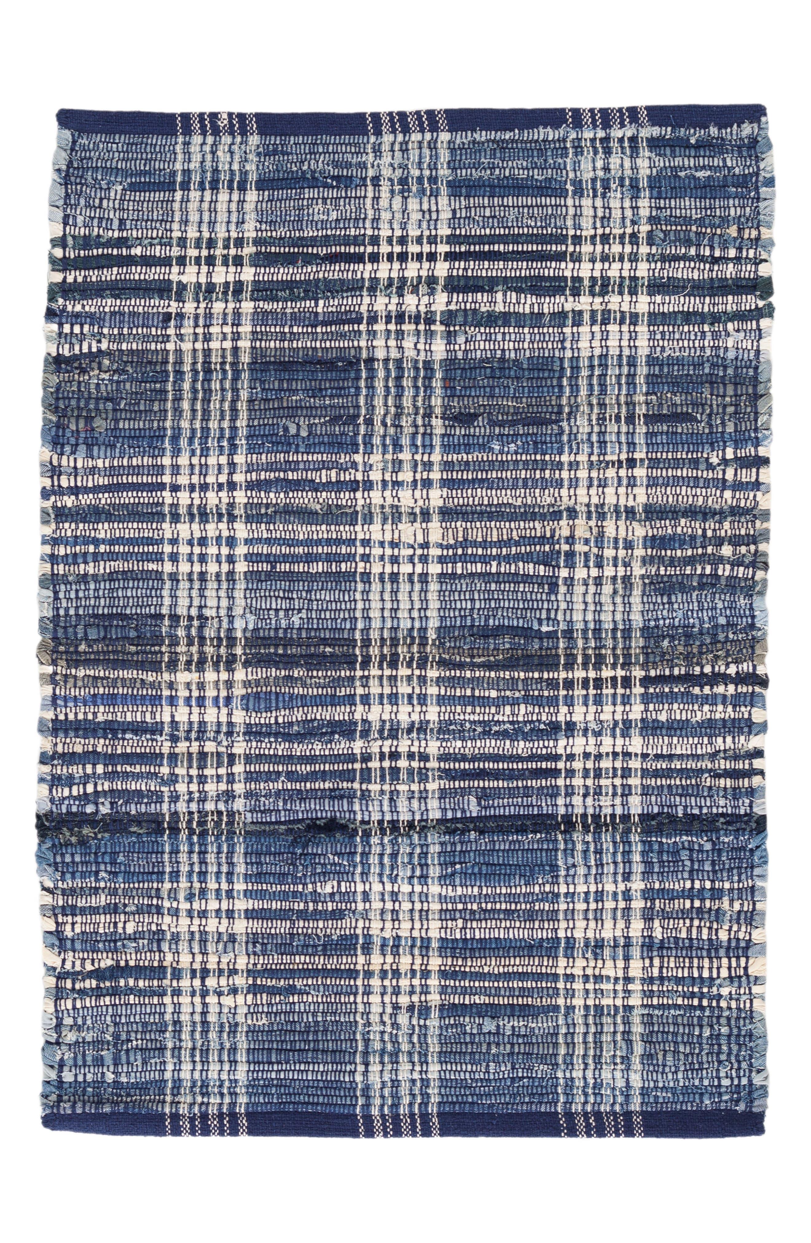 Plaid Rug,                         Main,                         color, BLUE
