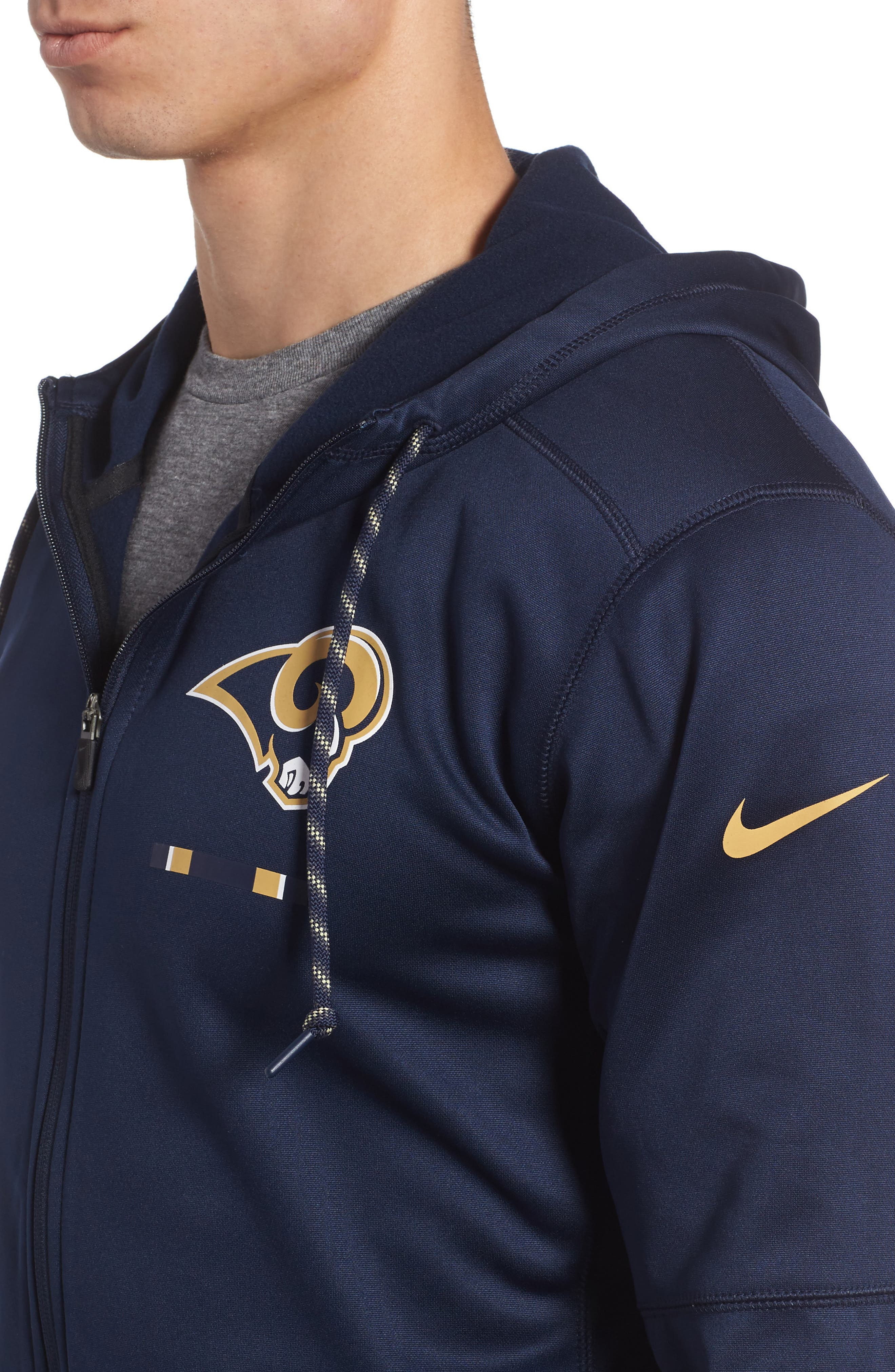 Therma-FIT NFL Graphic Zip Hoodie,                             Alternate thumbnail 26, color,