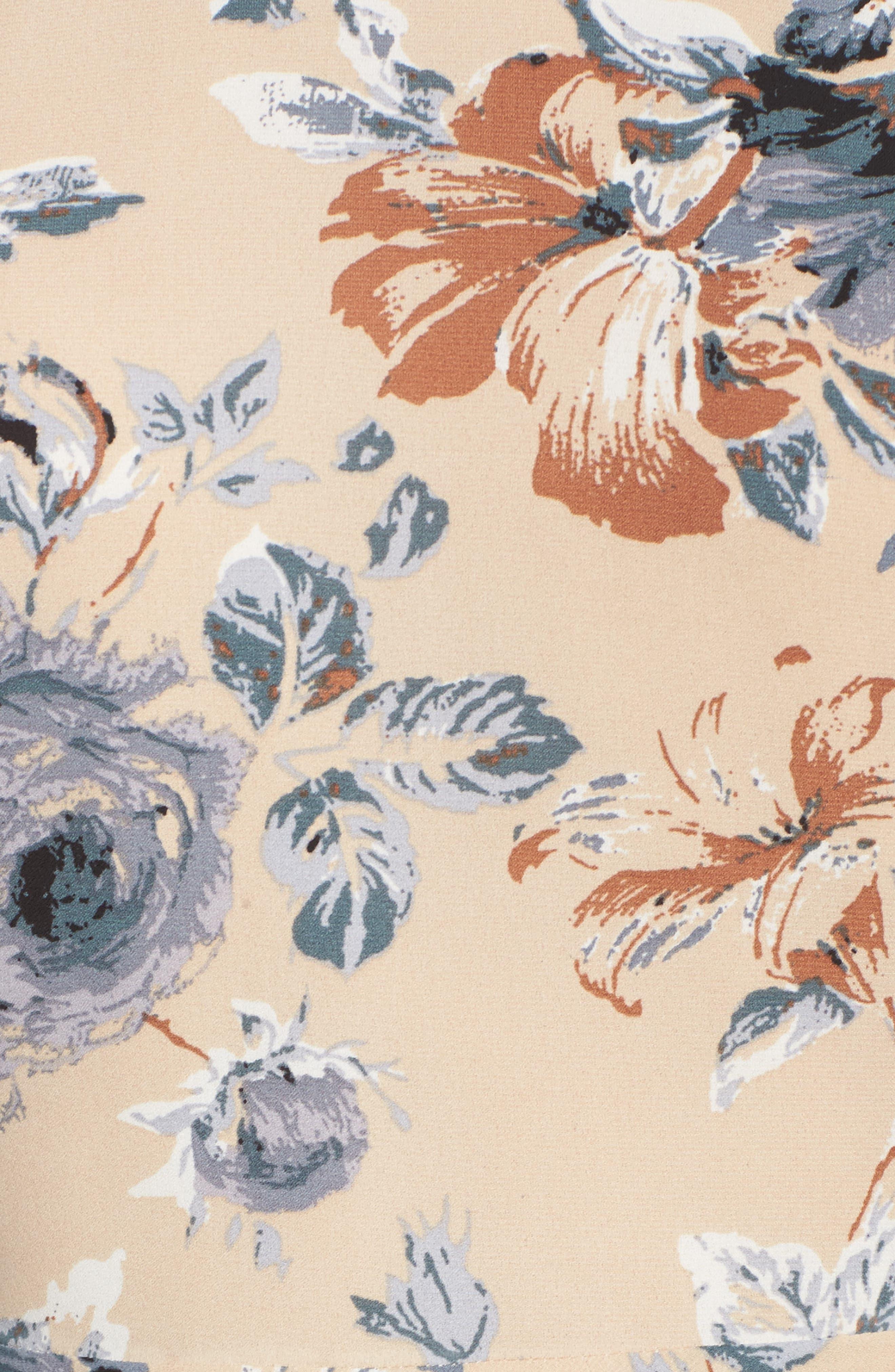 Merci Floral Fit & Flare Dress,                             Alternate thumbnail 5, color,                             264