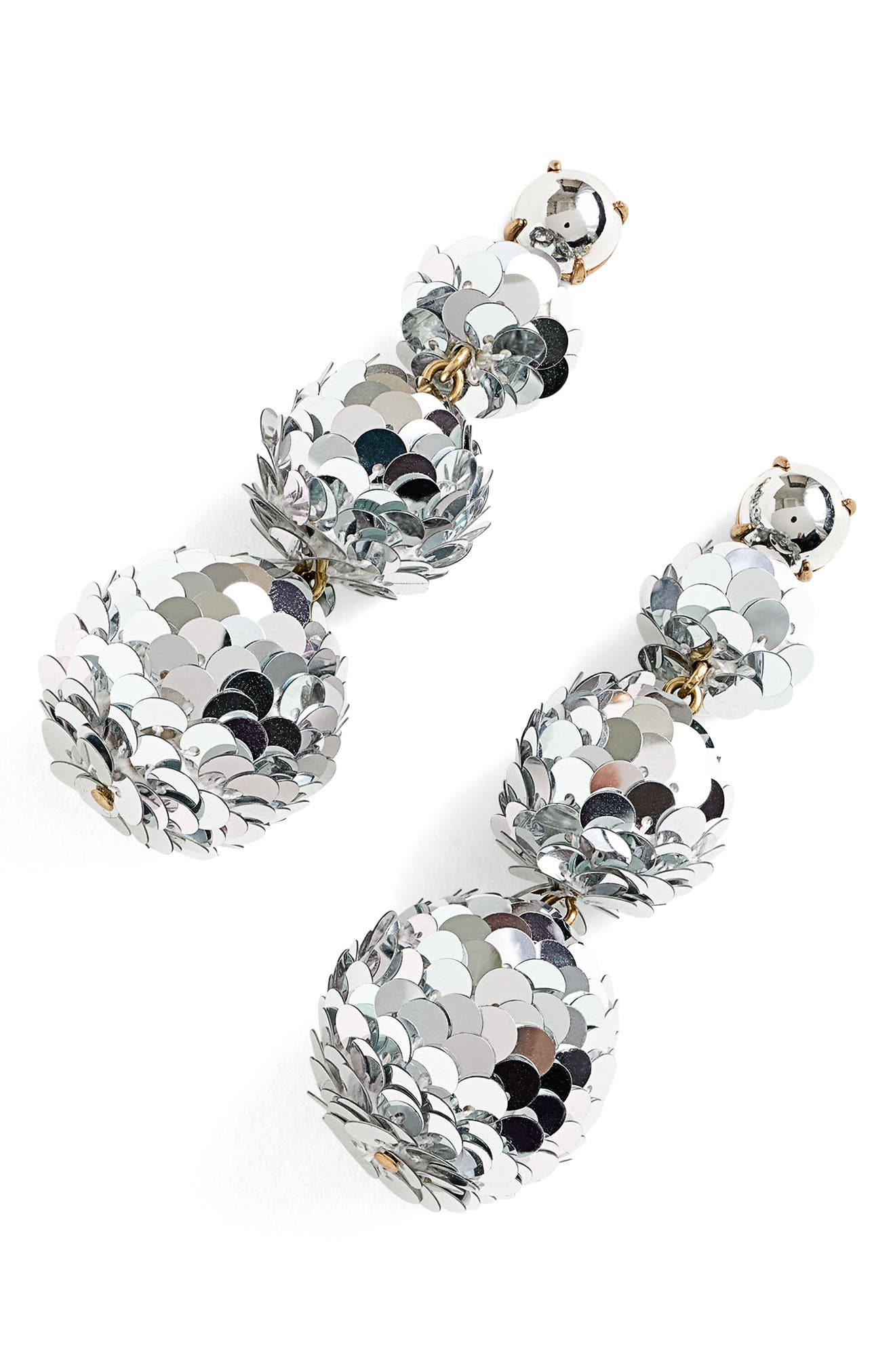 Sequin Ball Drop Earrings,                         Main,                         color, 040