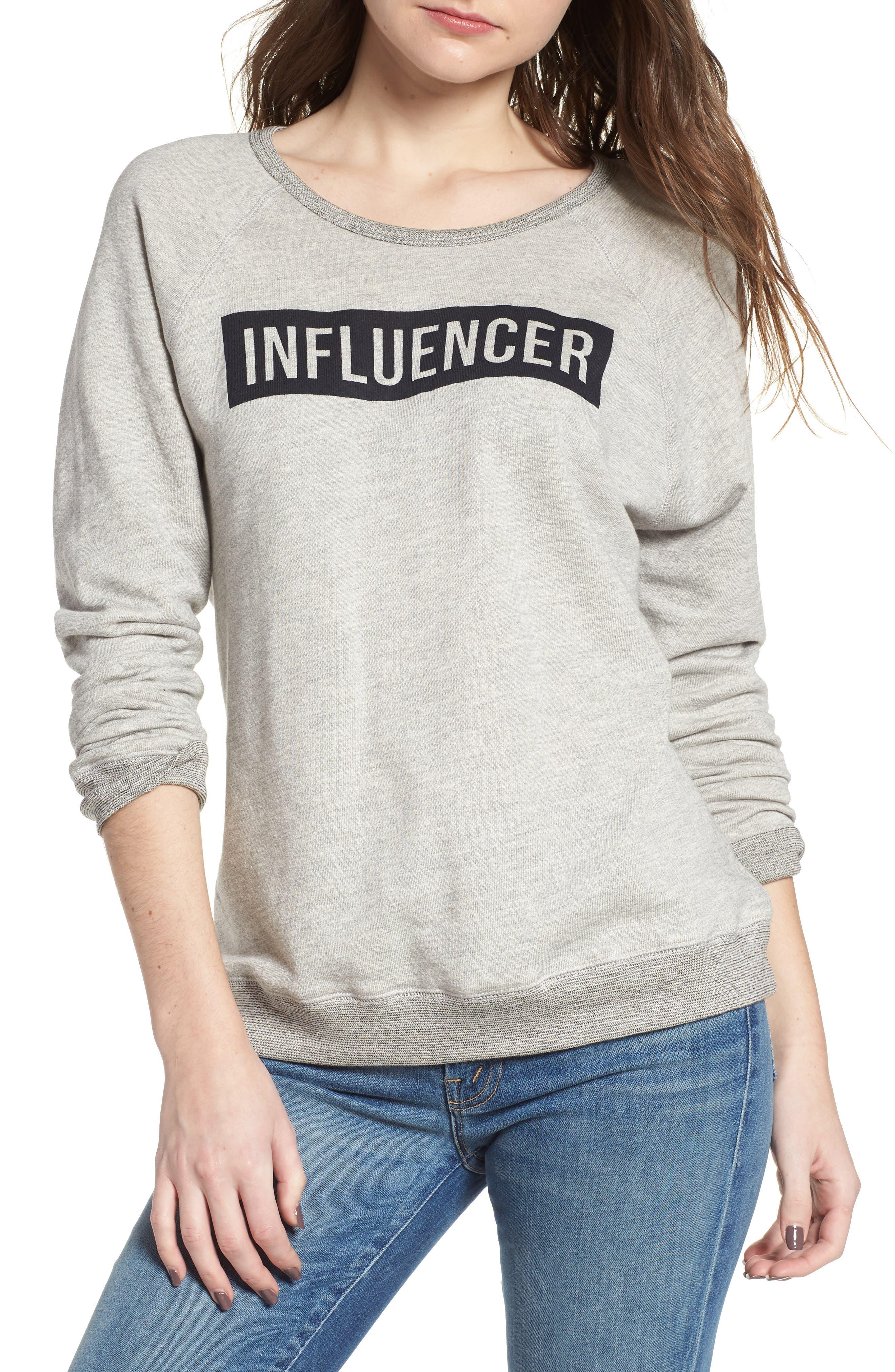 Influencer Sweatshirt,                         Main,                         color, 039