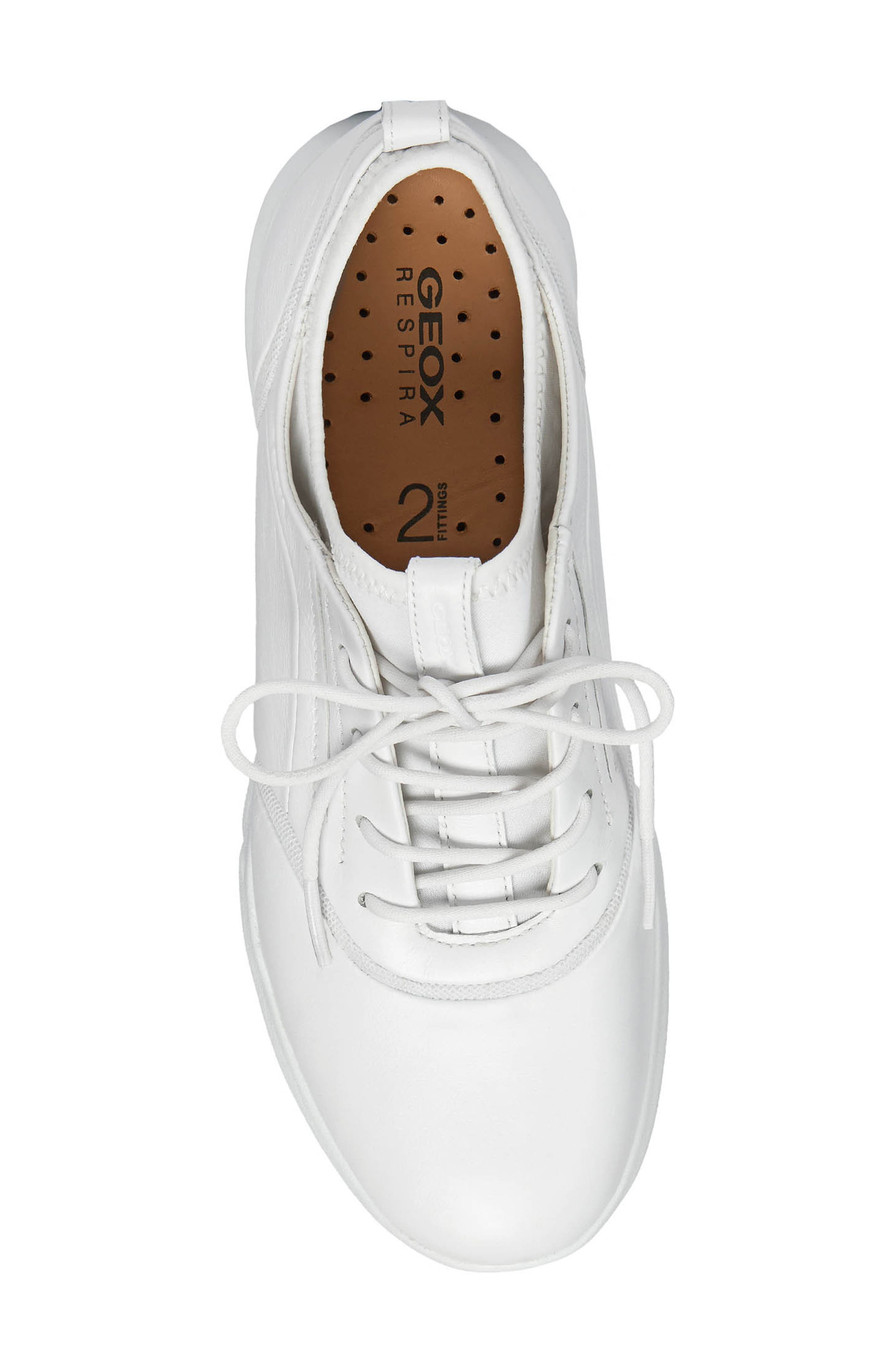 Nebula S 2 Low Top Sneaker,                             Alternate thumbnail 5, color,                             WHITE LEATHER