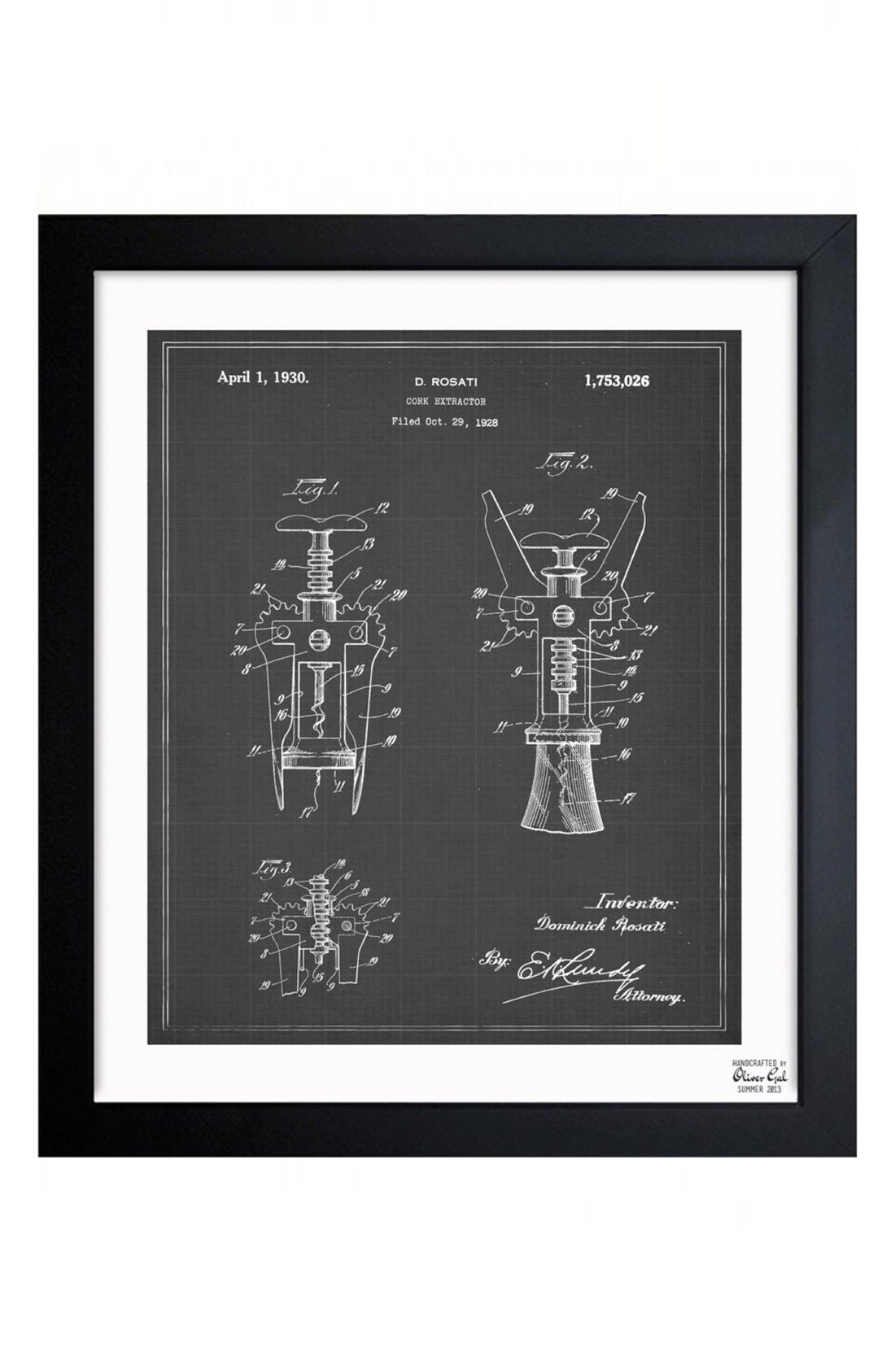 'Corkscrew Blueprint' Wall Art,                             Main thumbnail 1, color,                             020