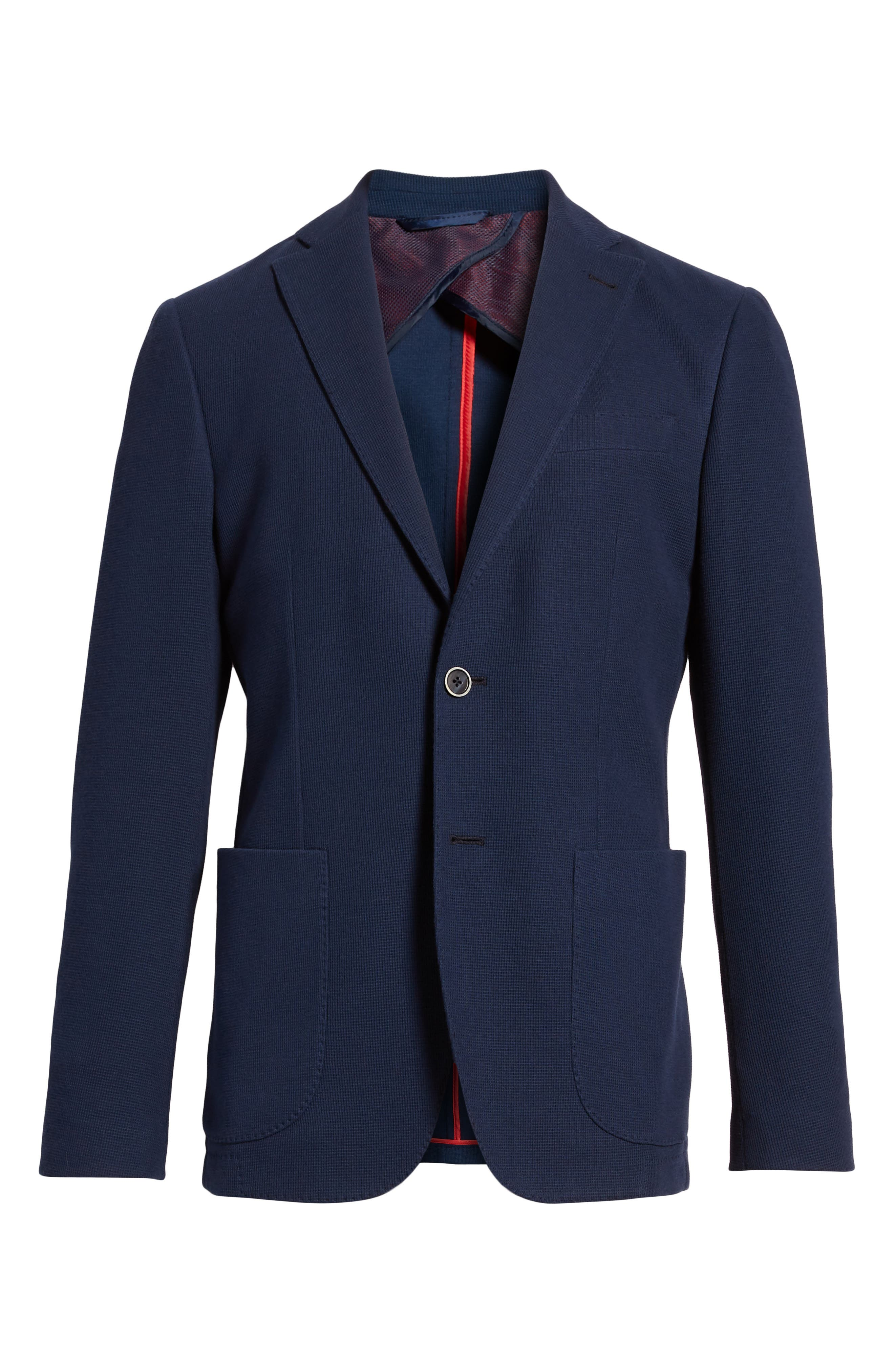 BUGATCHI,                             Regular Fit Cotton Piqué Blazer,                             Alternate thumbnail 5, color,                             411