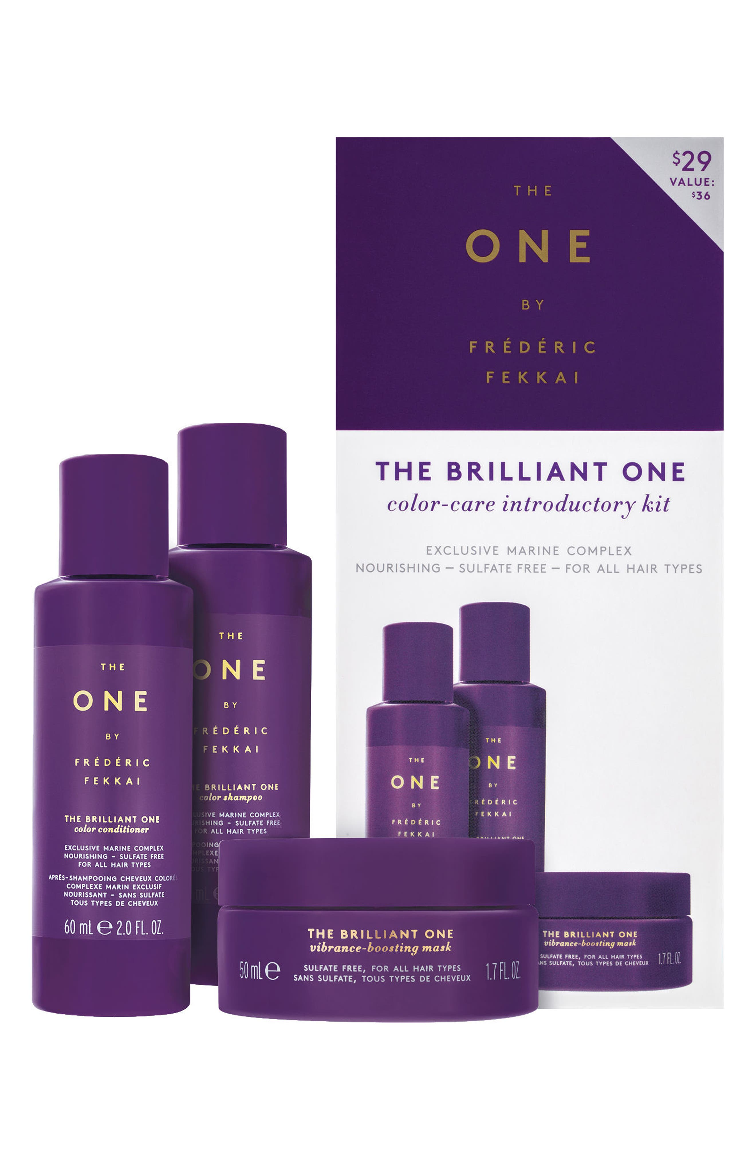 The One by Frédéric Fekkai The Brilliant One Color-Care Introductory Kit,                             Main thumbnail 1, color,                             NO COLOR