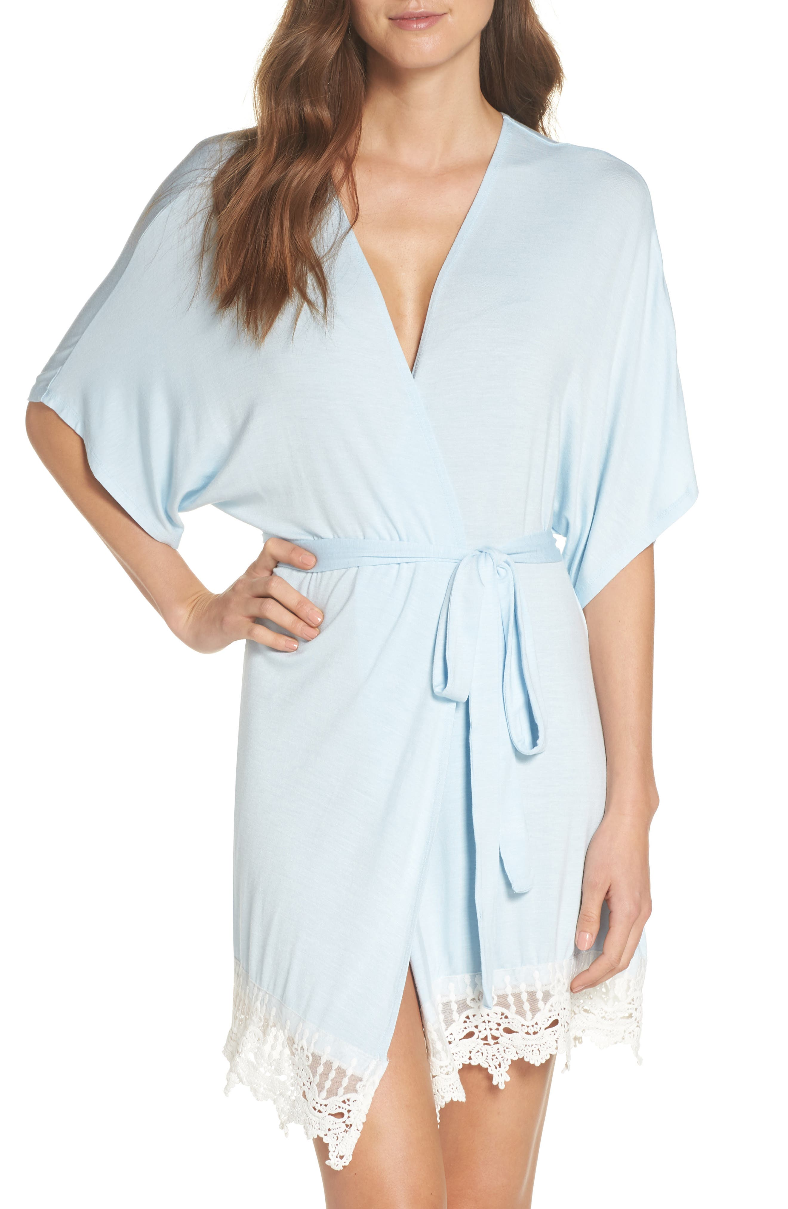 Sweetheart Robe,                         Main,                         color, BABY BLUE - GEM