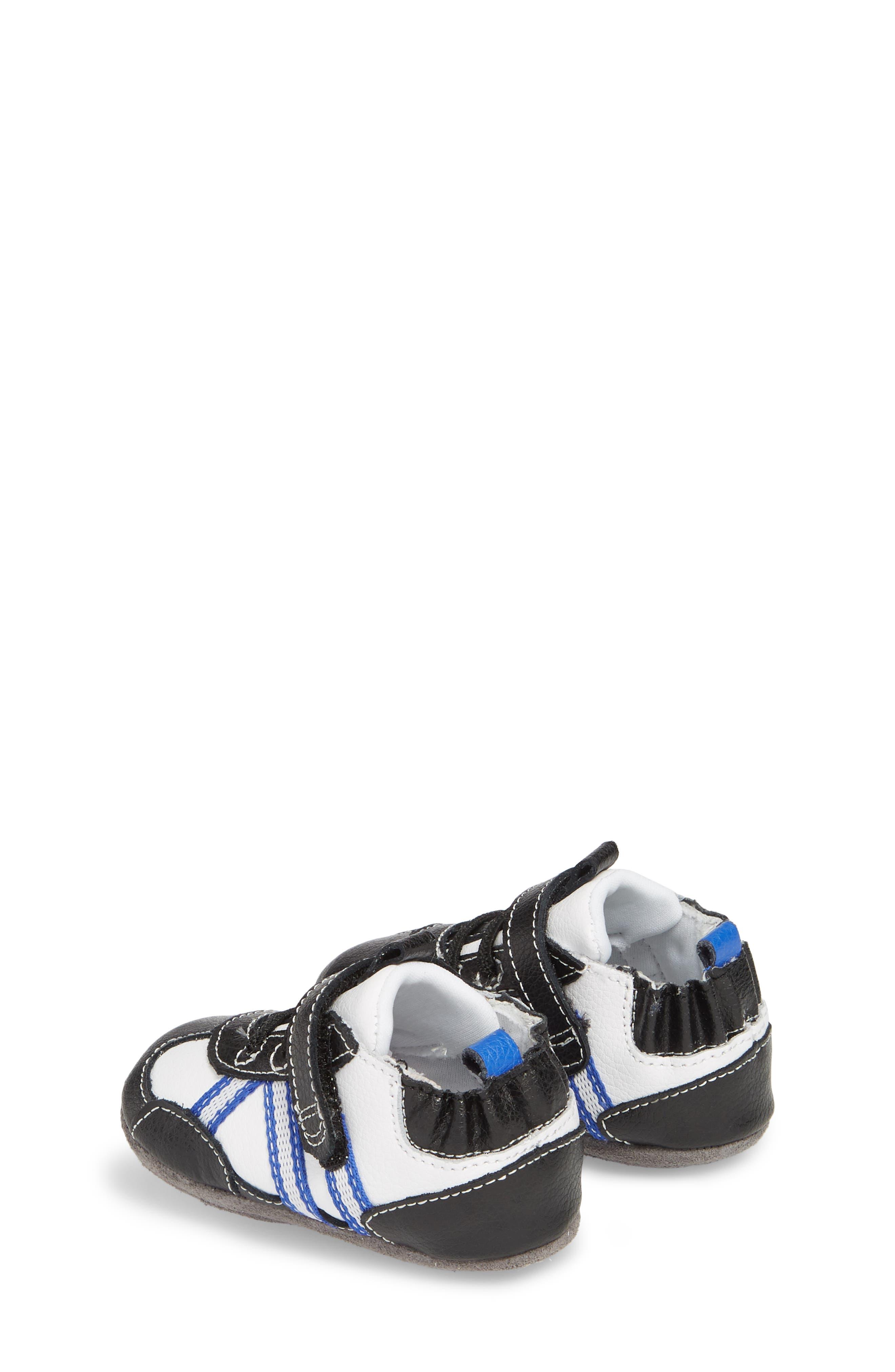 Jogging Josh Slip-On Crib Sneaker,                             Alternate thumbnail 2, color,                             BLACK
