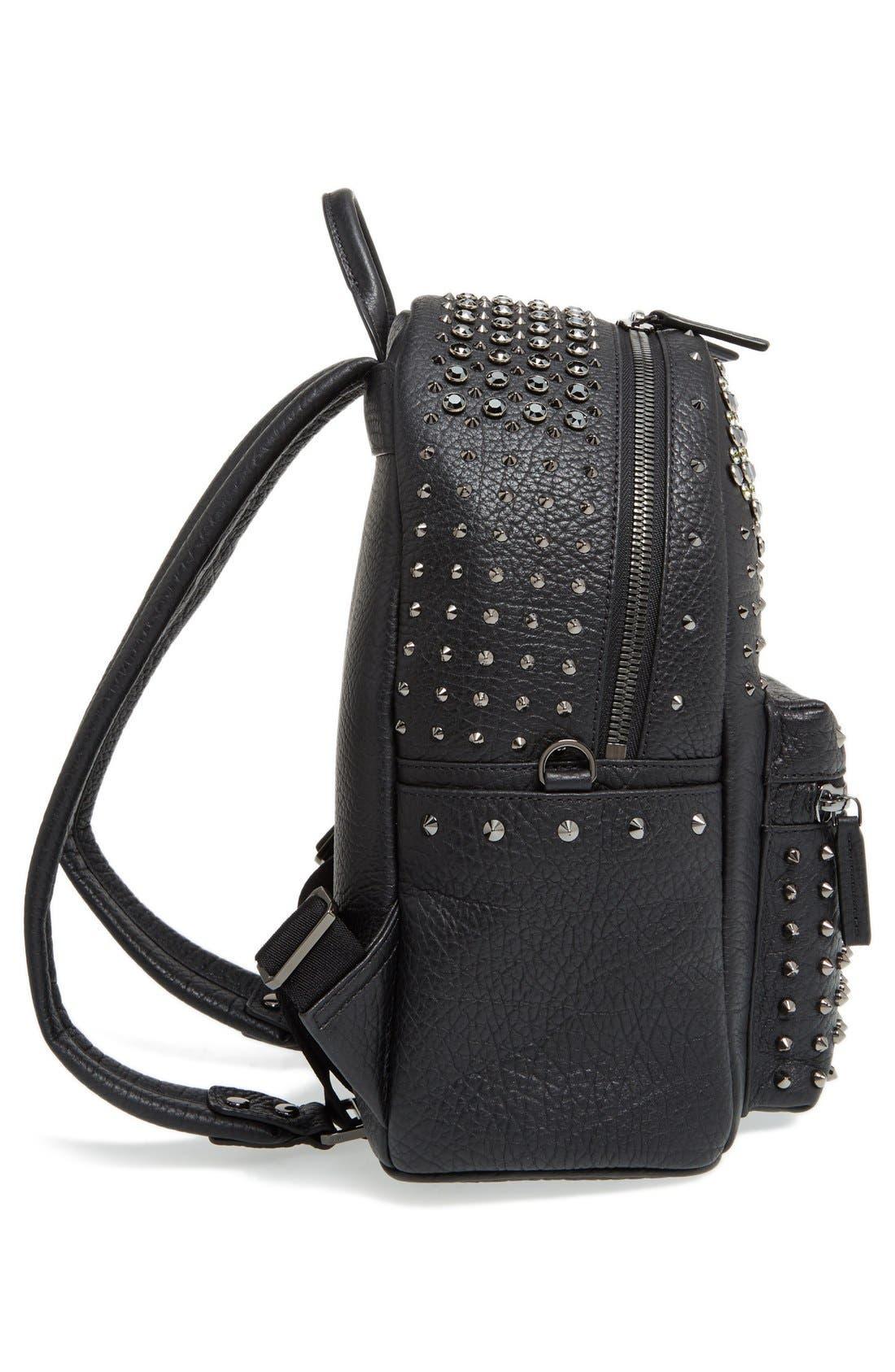 'Small Stark Special' Swarovski Crystal Embellished Leather Backpack,                             Alternate thumbnail 5, color,                             001