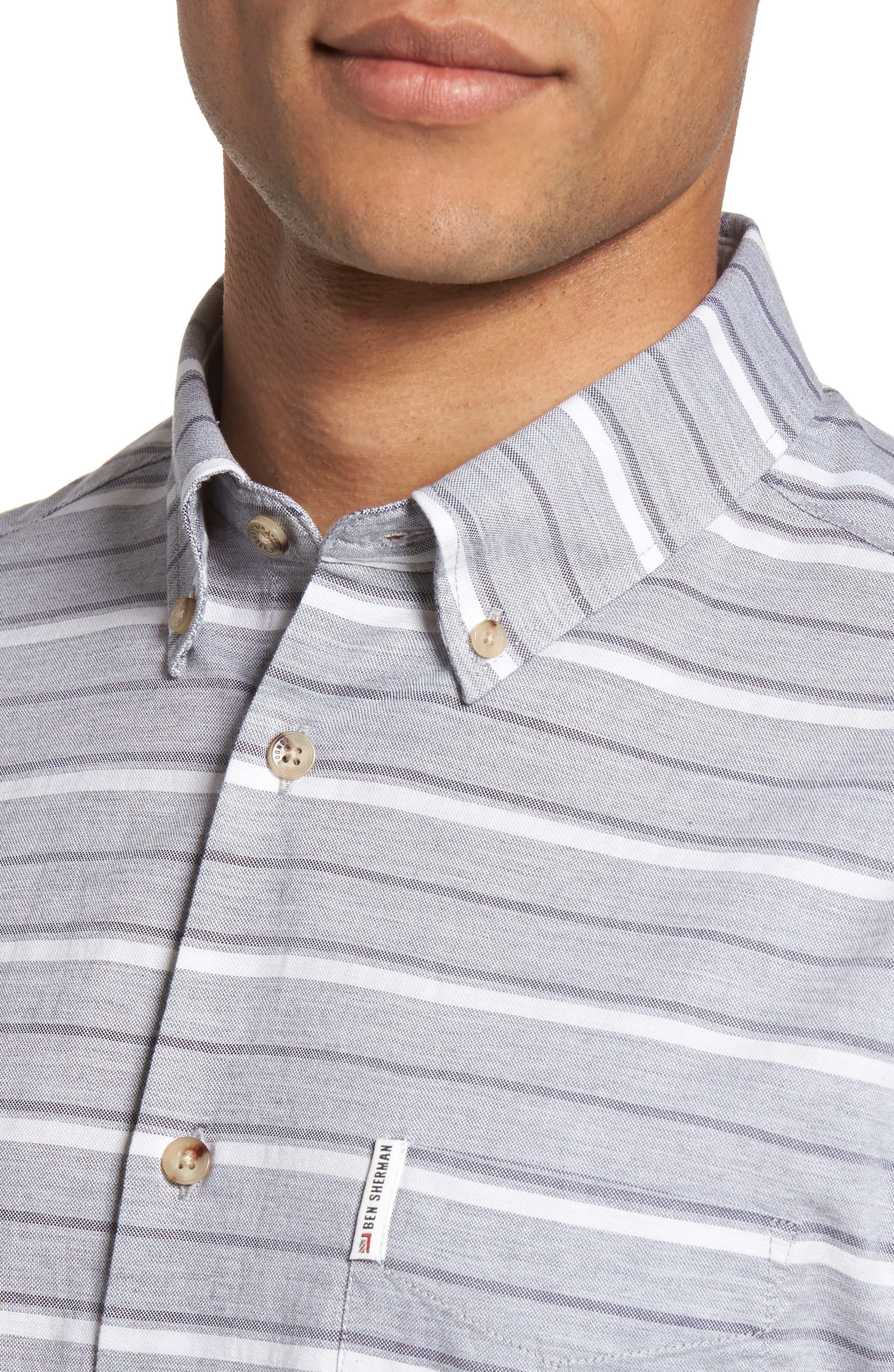 Tipping Horizontal Stripe Shirt,                             Alternate thumbnail 4, color,                             020